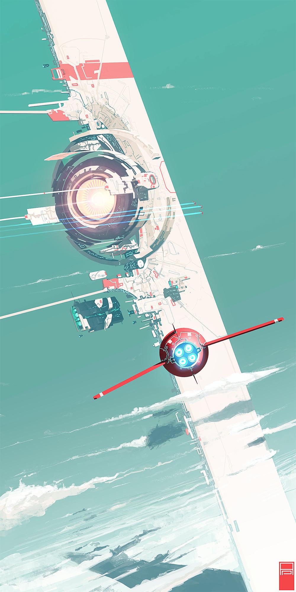 General 1000x2000 fantasy ship science fiction Technomancer futuristic spaceship vertical portrait display