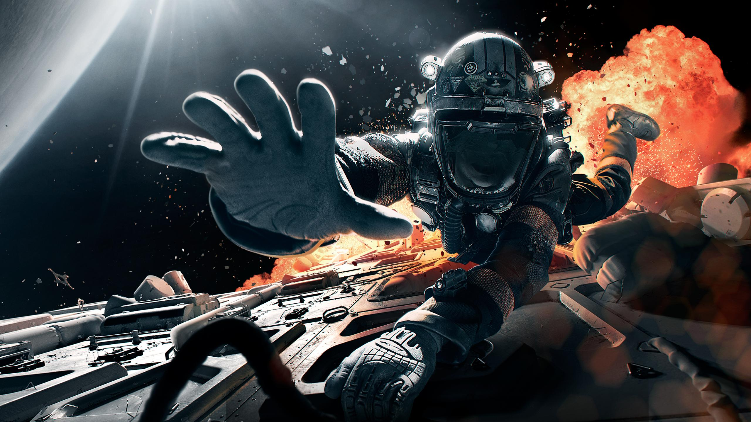 General 2560x1440 The Expanse TV Series space spaceship astronaut spacesuit explosion science fiction