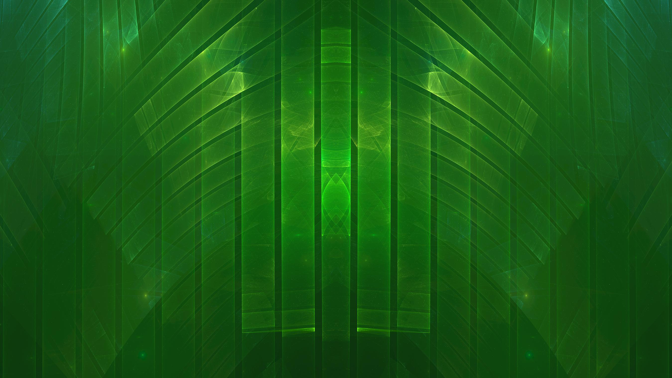 General 2698x1517 abstract fractal symmetry digital art green
