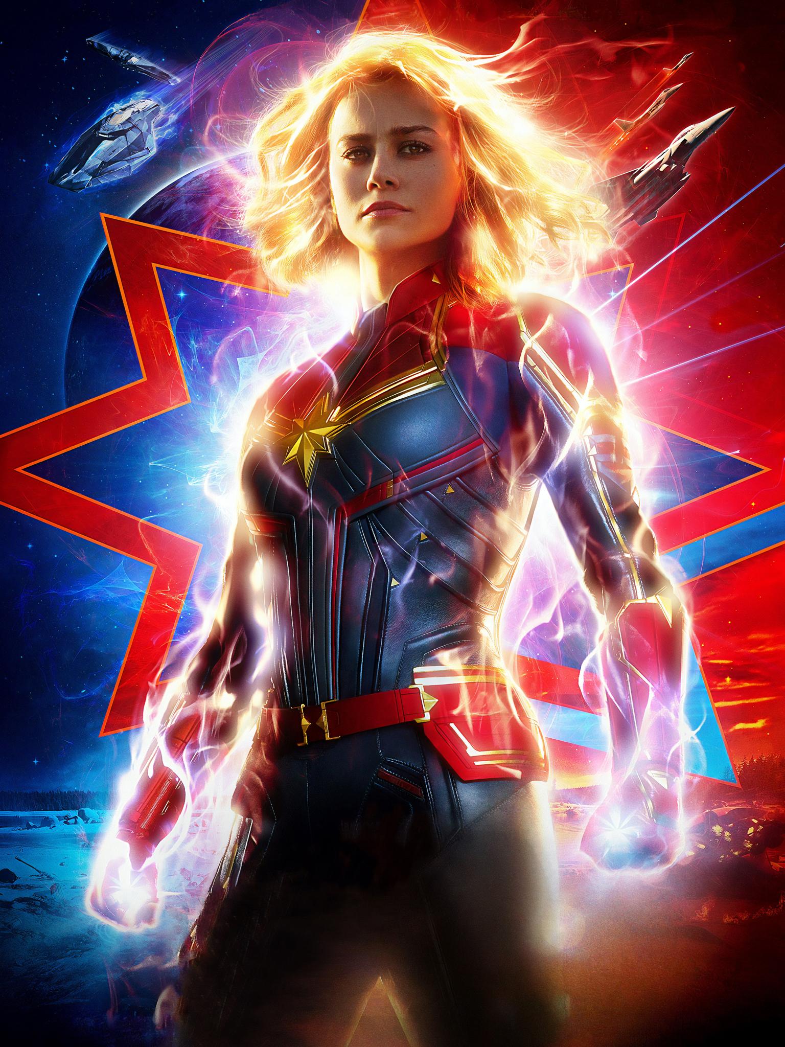 General 1536x2048 Captain Marvel Marvel Cinematic Universe Brie Larson portrait display superheroines movies blonde