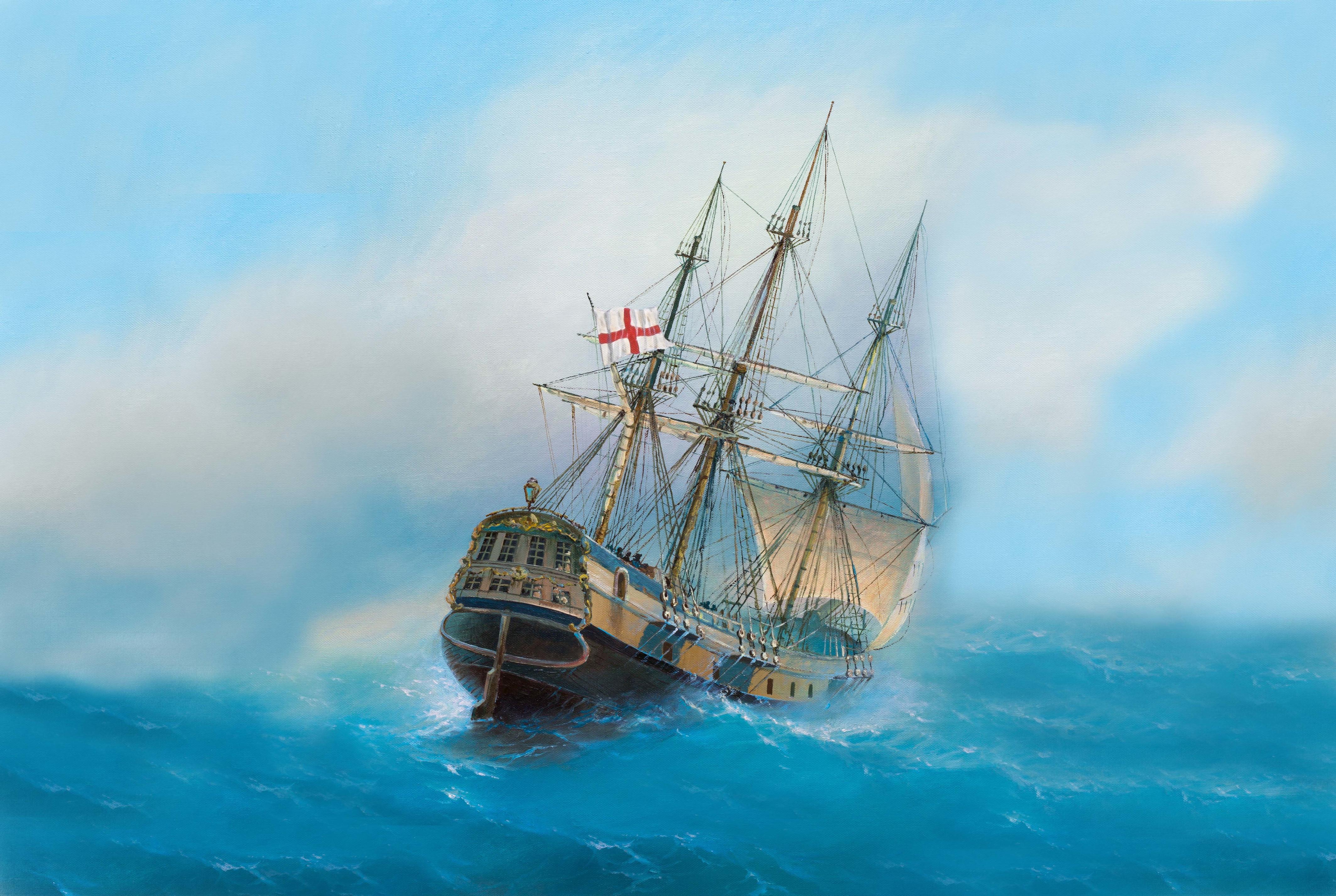 General 4254x2854 flot painting ocean battle classical art sea artwork vehicle ship
