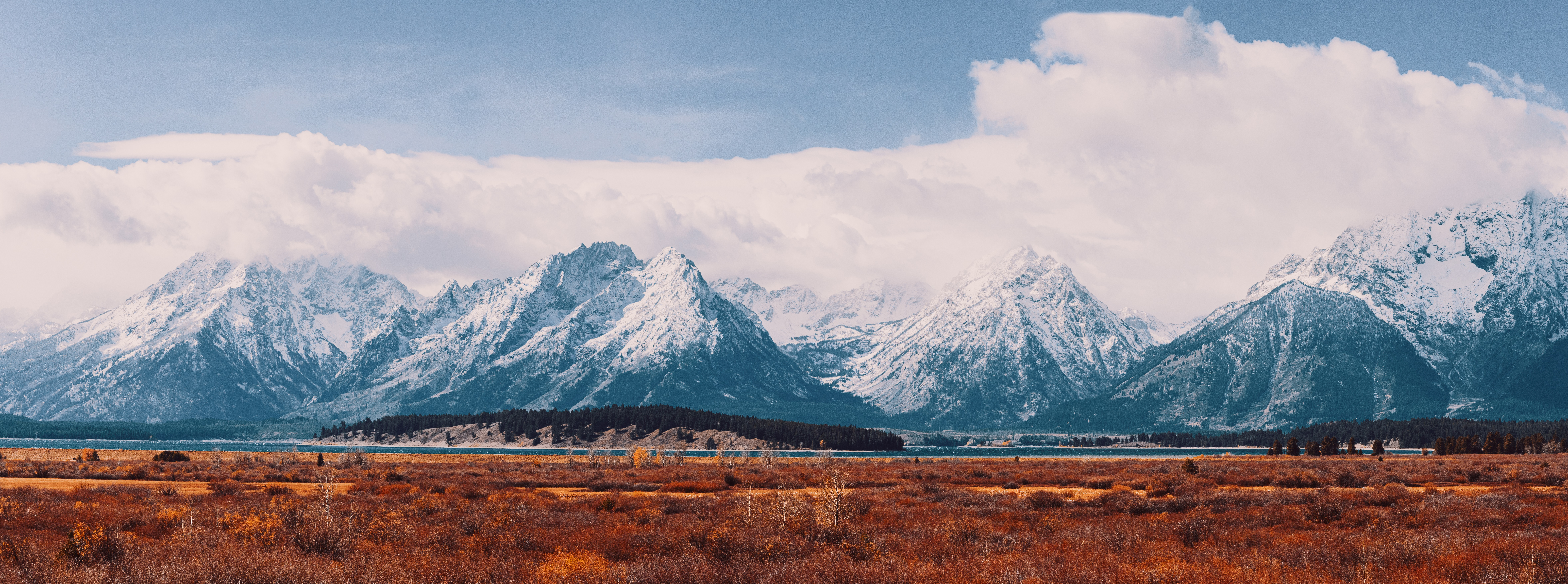 General 9418x3507 landscape Grand Teton National Park snow mountains lake Wyoming