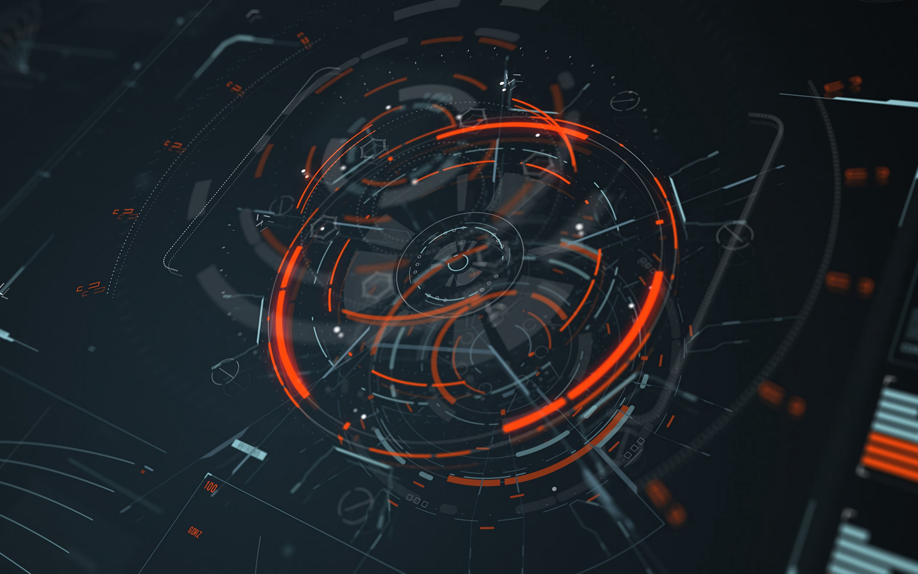 General 3840x2400 hologram schematic science fiction abstract lines