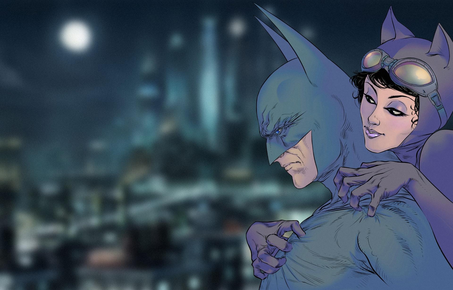 General 1920x1230 artwork Batman comic art Catwoman
