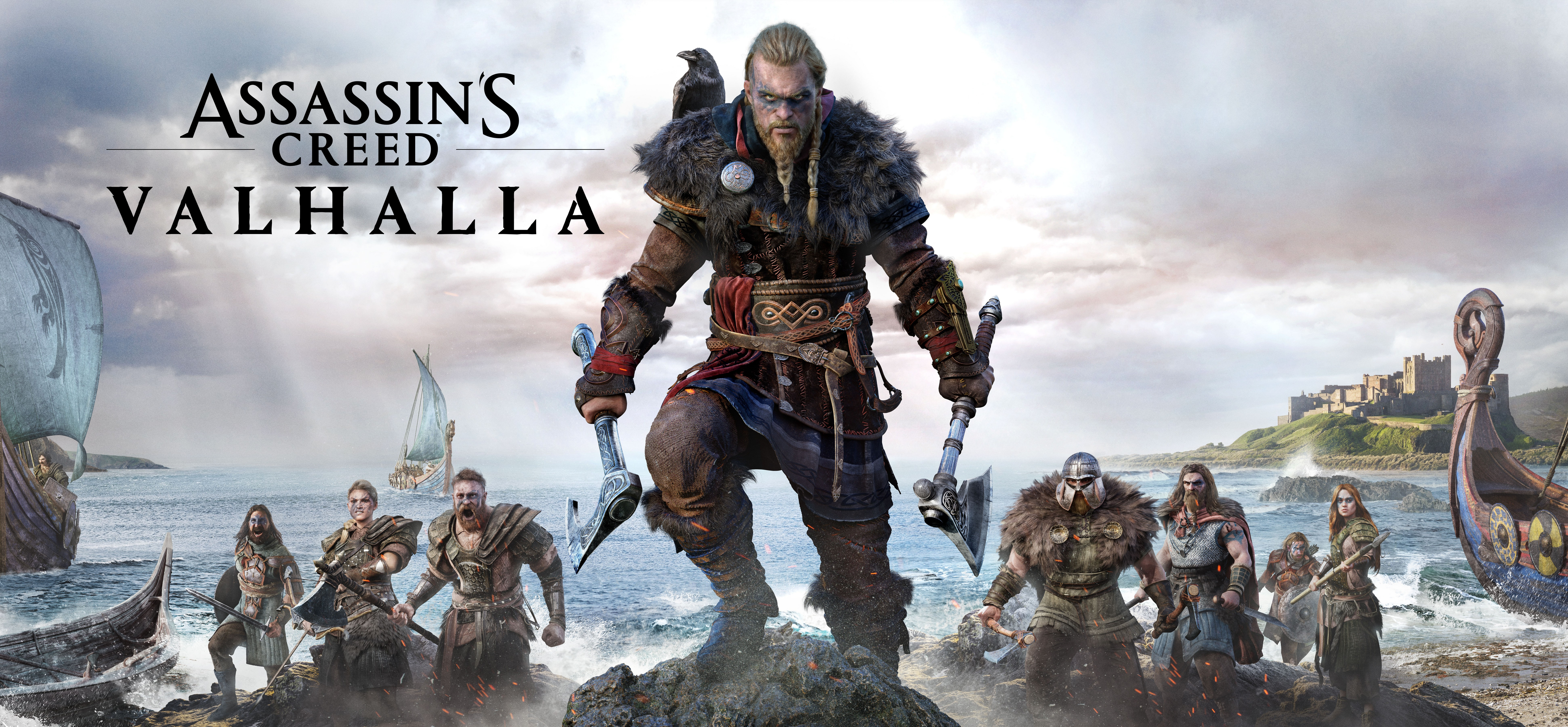 General 7766x3601 Assassin's Creed: Valhalla viking video games video game art digital art Axe boat ultrawide ultra-wide