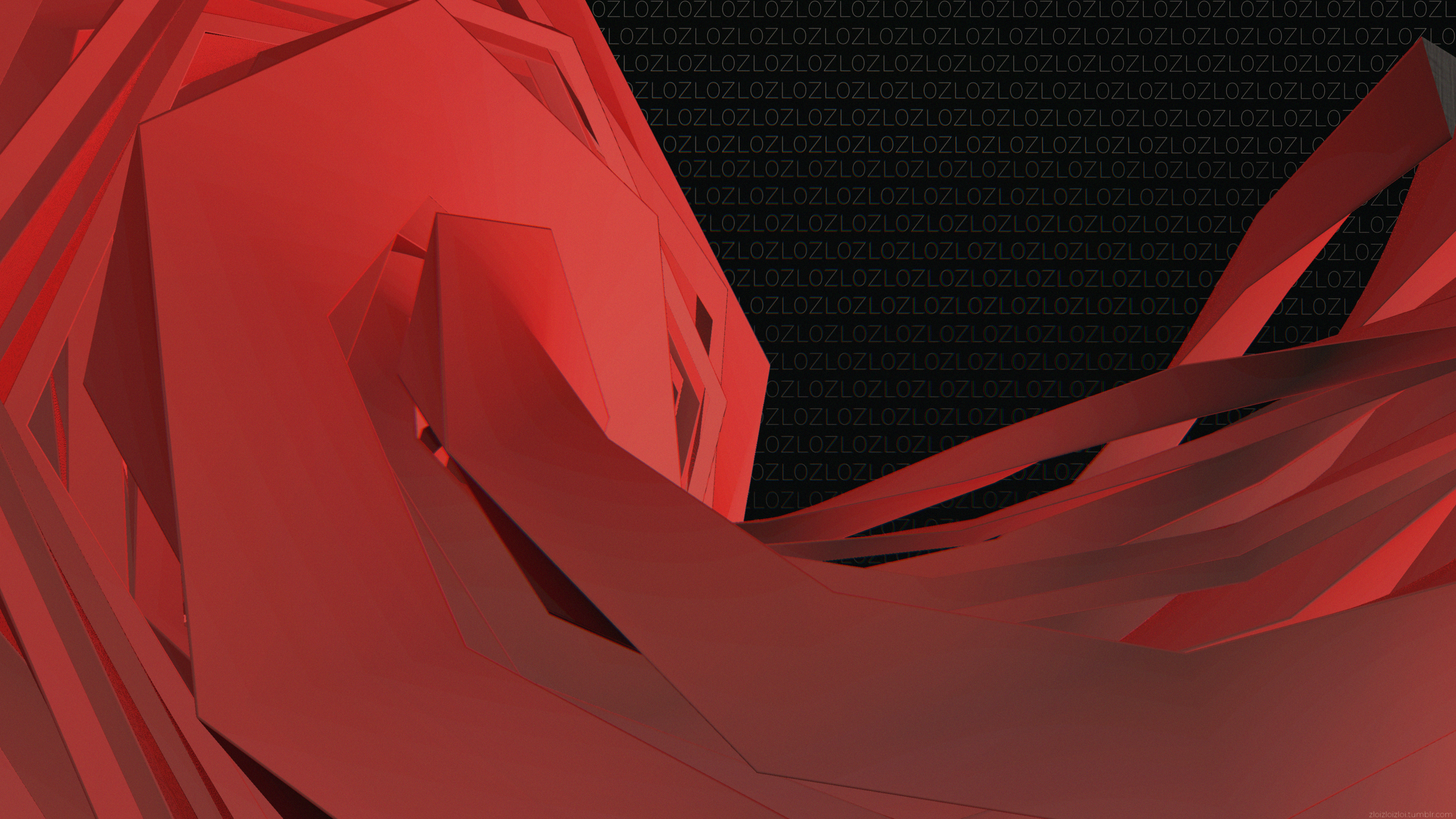 General 3840x2160 abstract 3D Abstract 3D graphics red