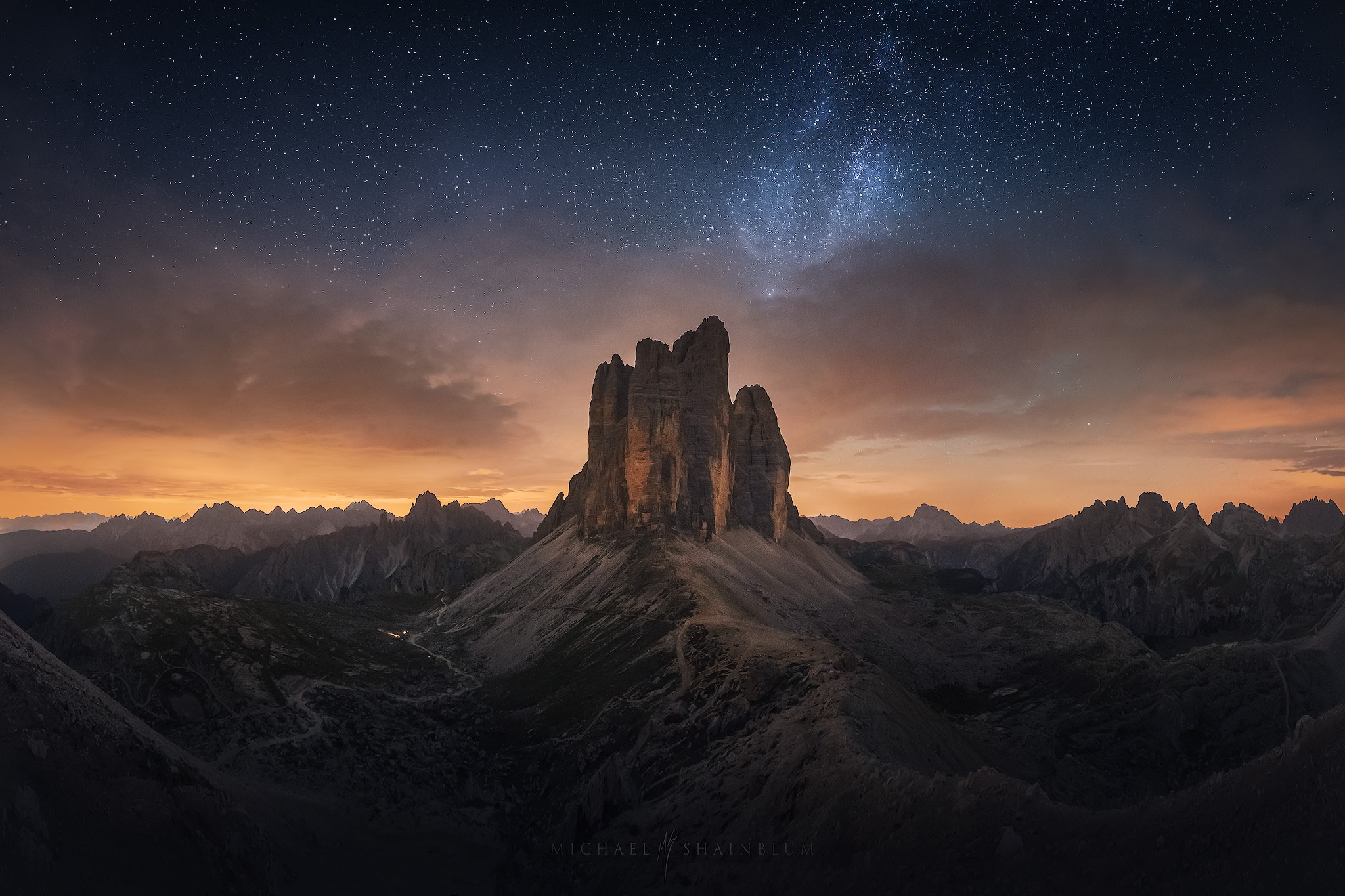 General 2048x1365 dark landscape sky nature night sky stars sunset photography Michael Shainblum