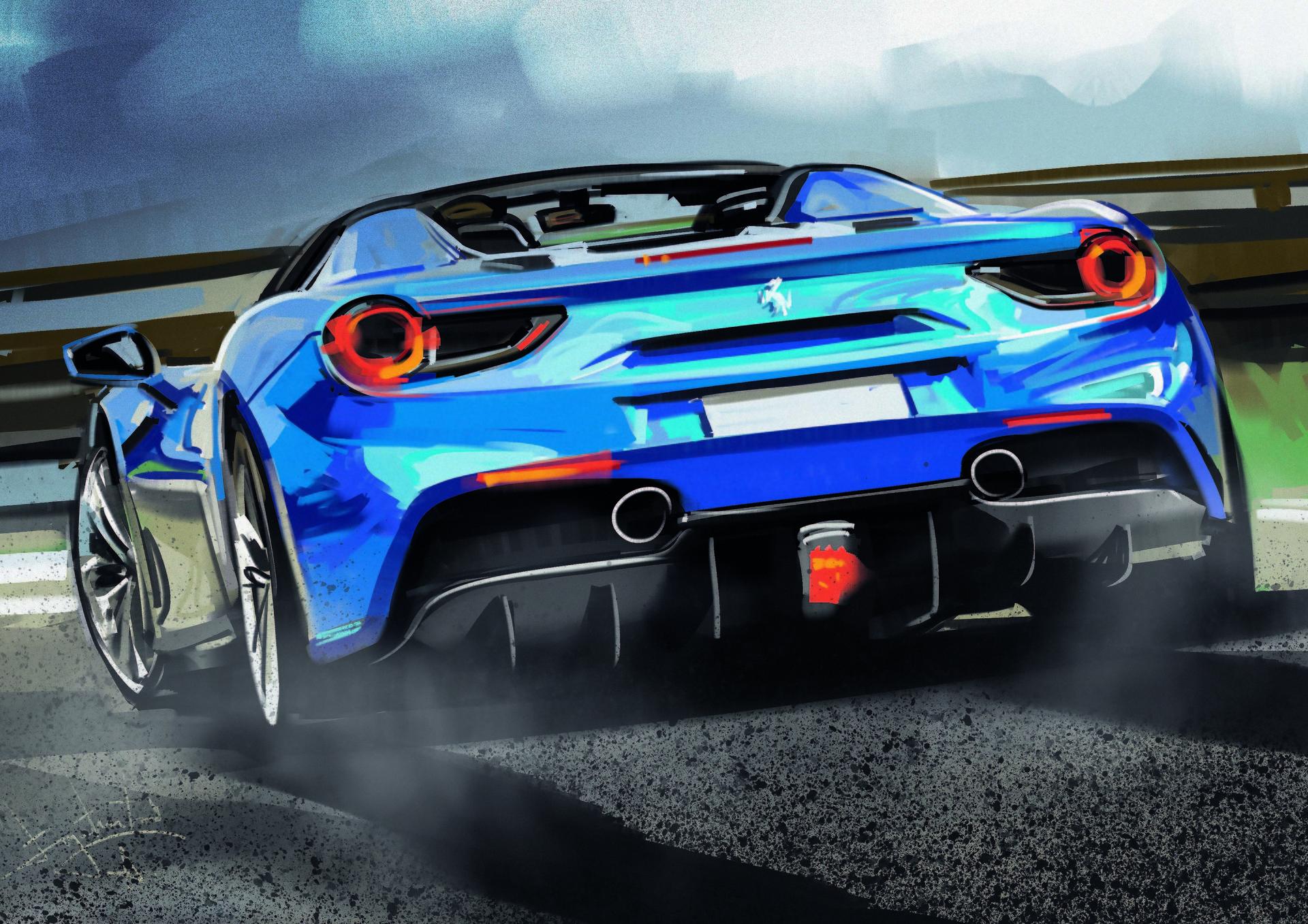 General 1920x1357 Aleksandr Sidelnikov Ferrari blue cars sports car car road sky