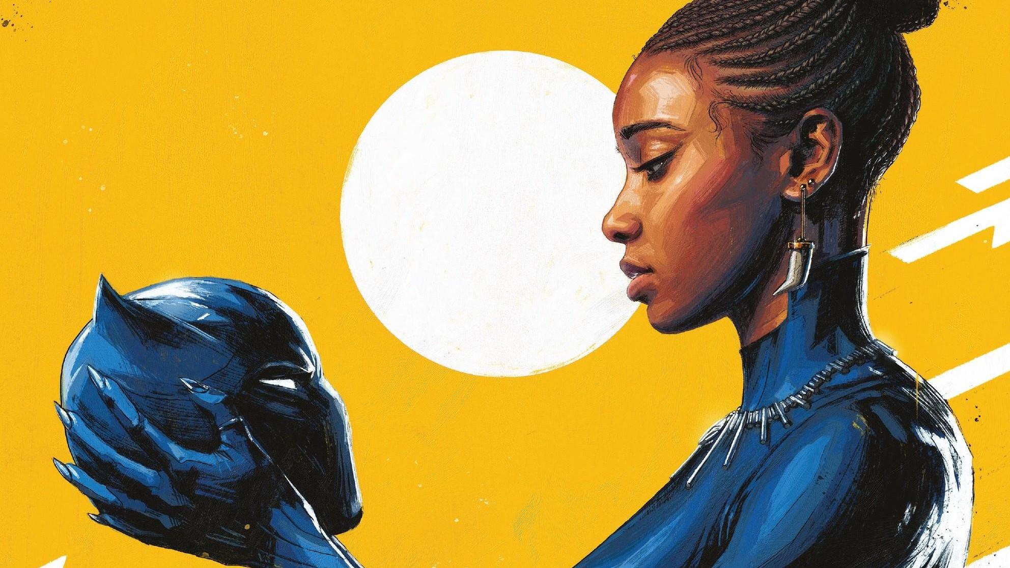 General 1984x1116 comics comic art comic books Comic Girls (Series) Marvel Comics Sun Black Panther Shuri ebony black women brunette braided hair