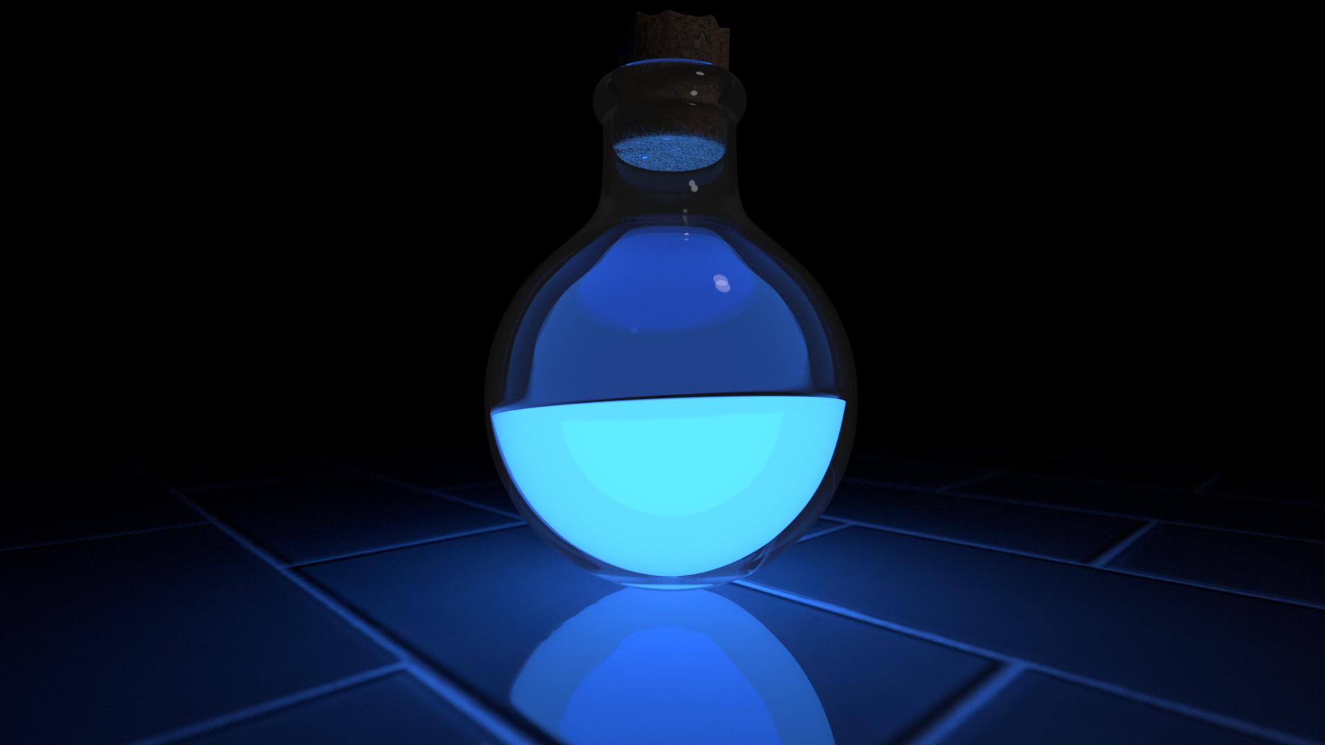 General 1920x1080 dark potions tiles blue light glowing fluid glass digital art blue abstract cyan