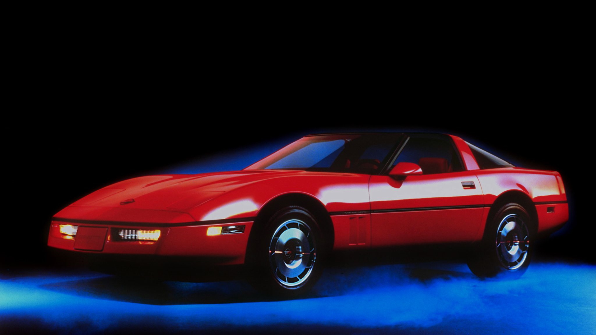 General 1920x1080 Chevrolet Corvette C4 80s cars red cars American cars car vehicle Chevrolet