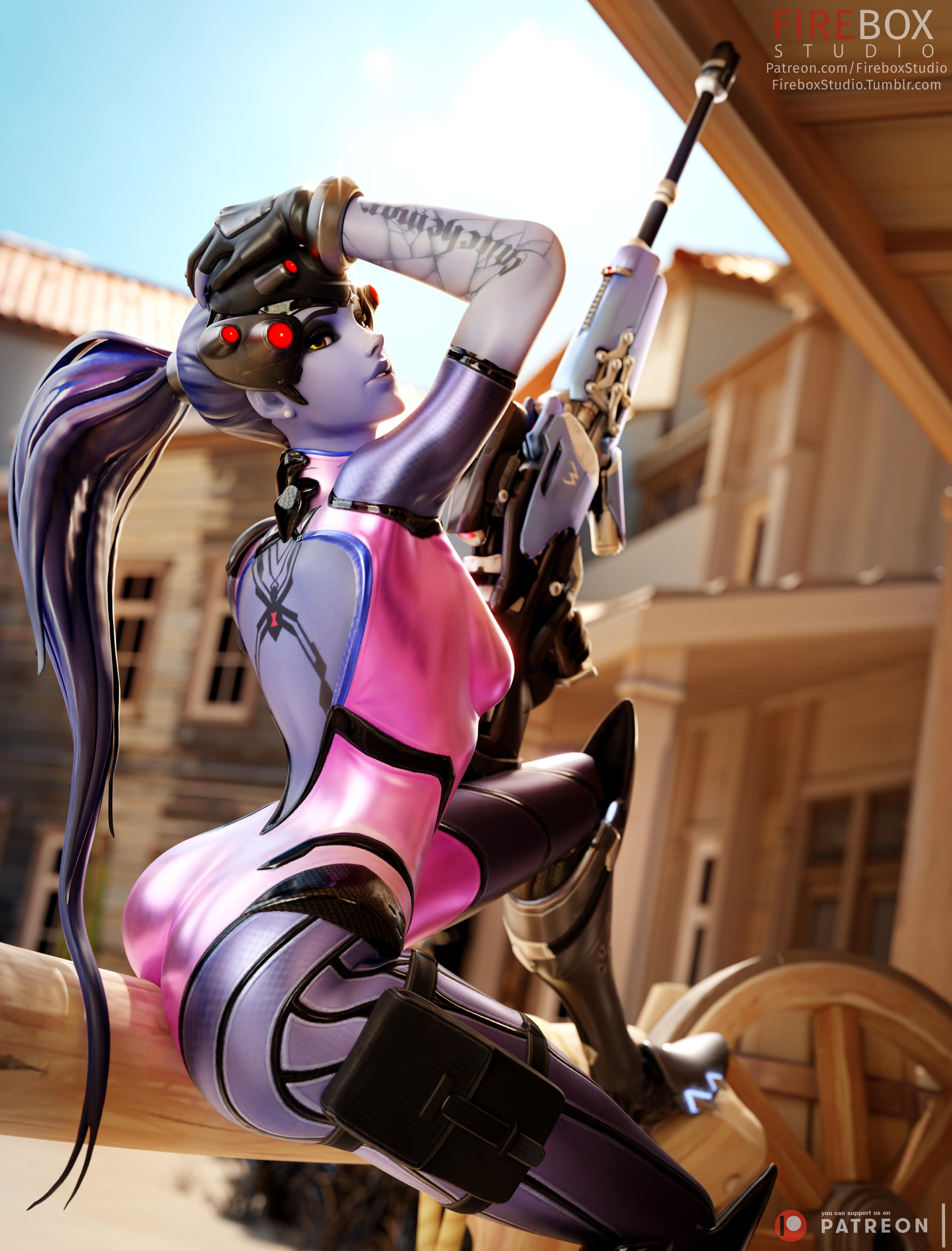 General 2924x3840 video games video game girls video game characters fantasy girl illustration artwork 3D Overwatch Widowmaker (Overwatch) Firebox Studio