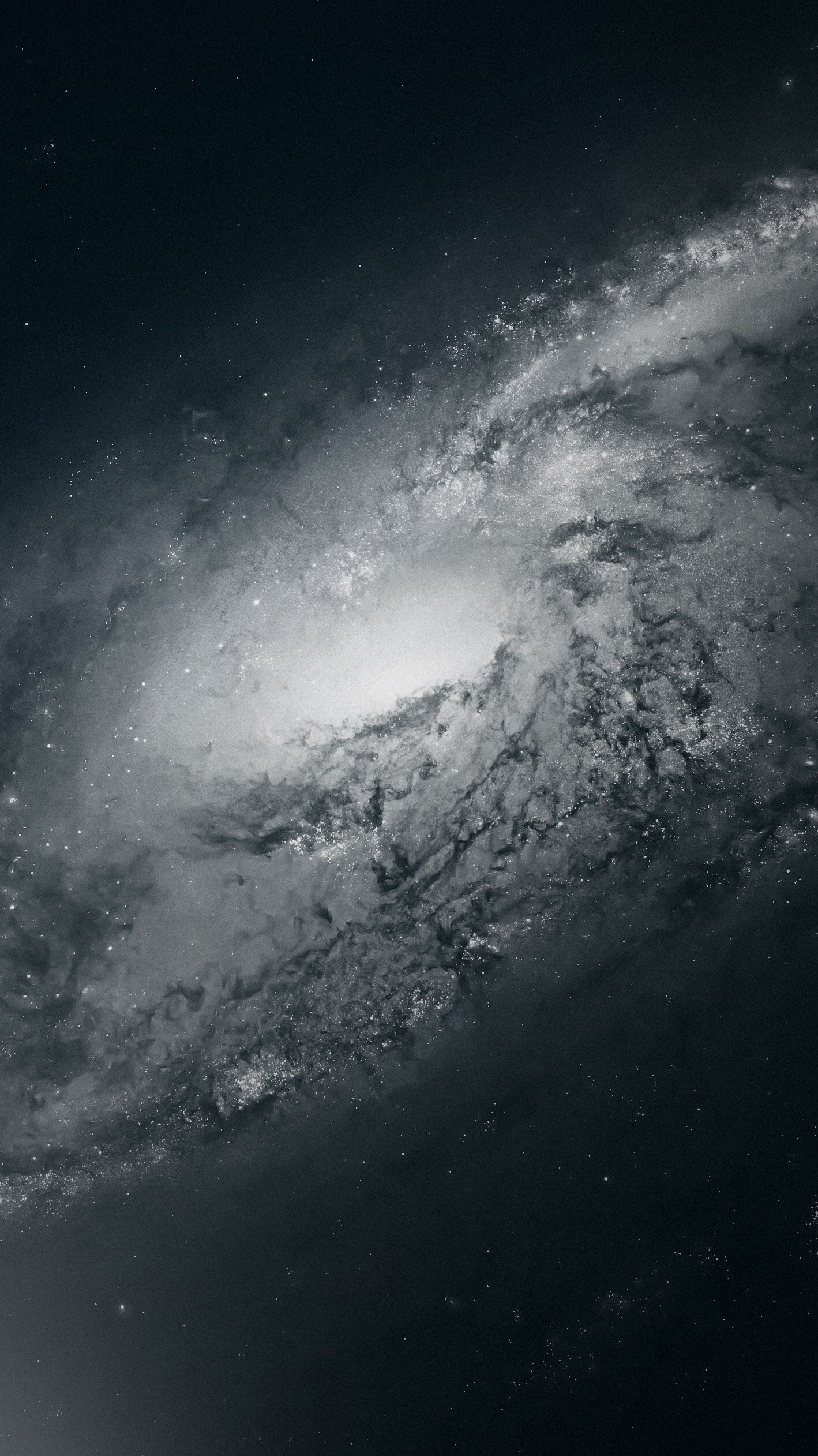 General 1418x2523 space monochrome space art galaxy digital art