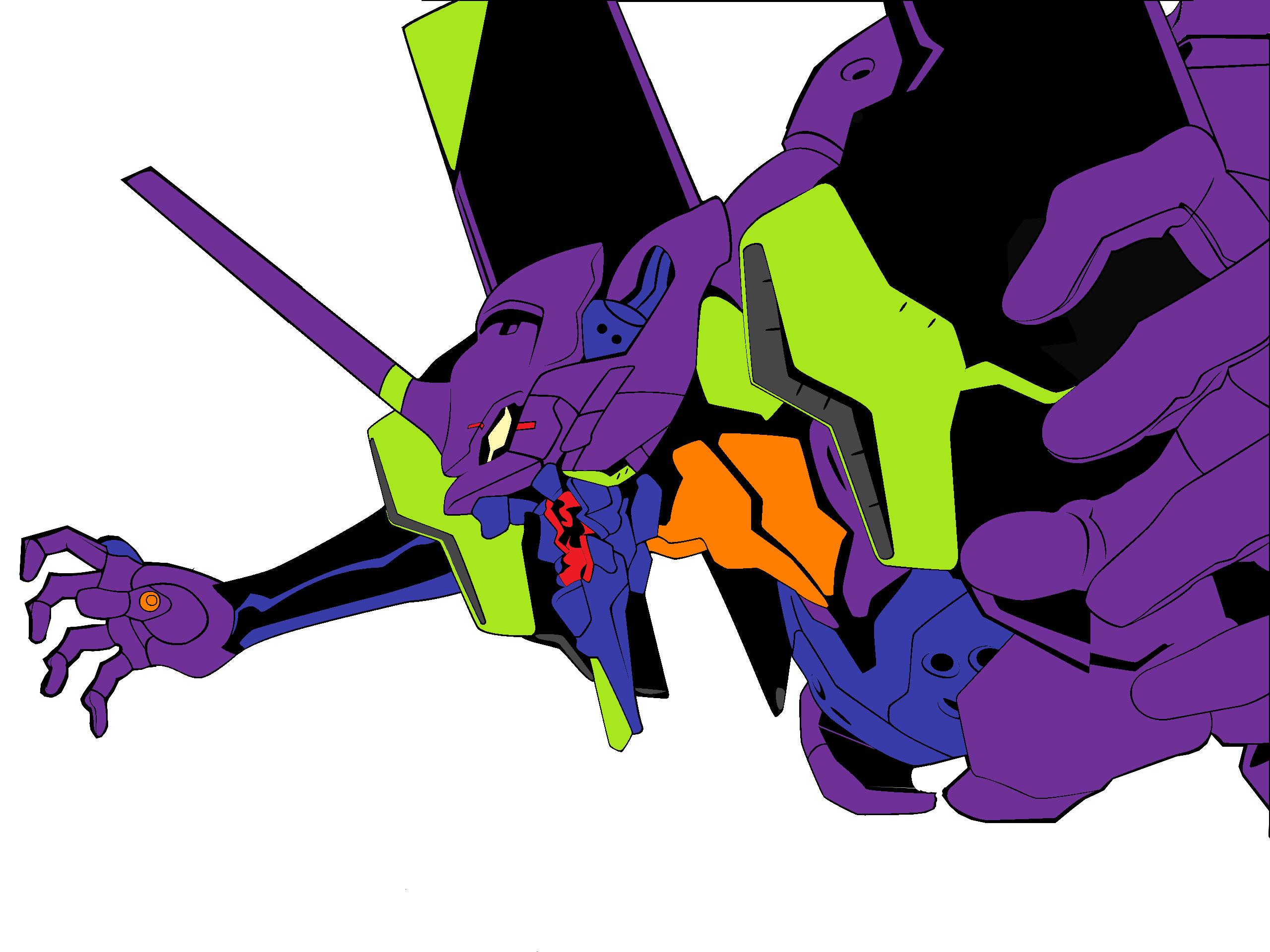 Anime 2560x1920 anime Neon Genesis Evangelion purple white background