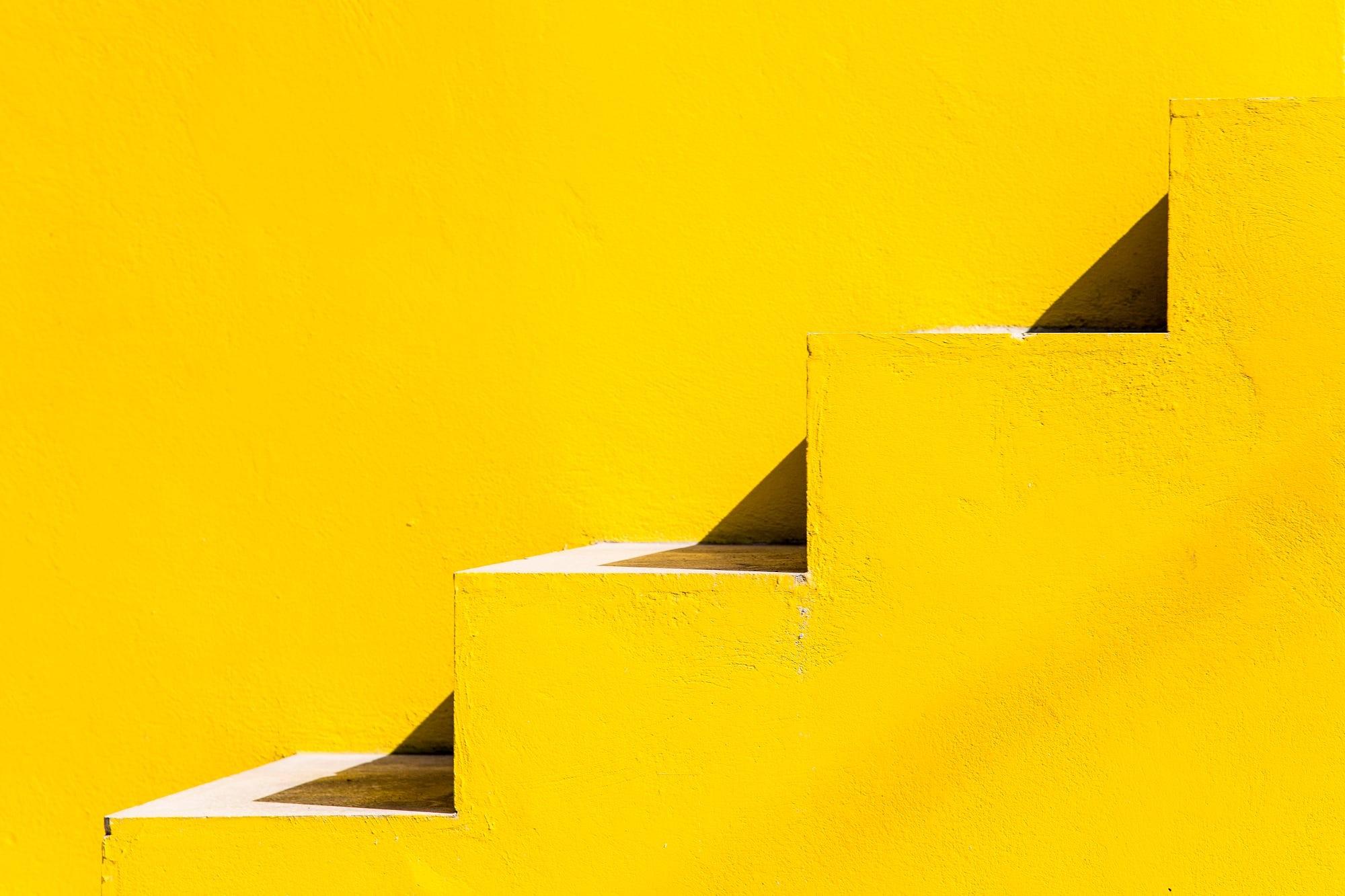 General 2000x1333 angle texture geometry yellow minimalism Cuba Havana shadow stairs yellow background bright