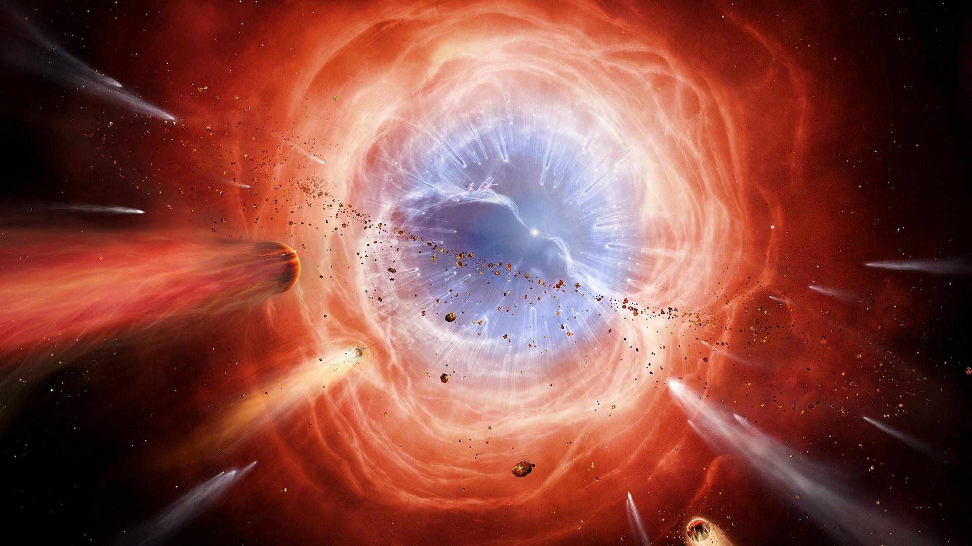 General 1920x1080 digital art minimalism black holes space comet planet