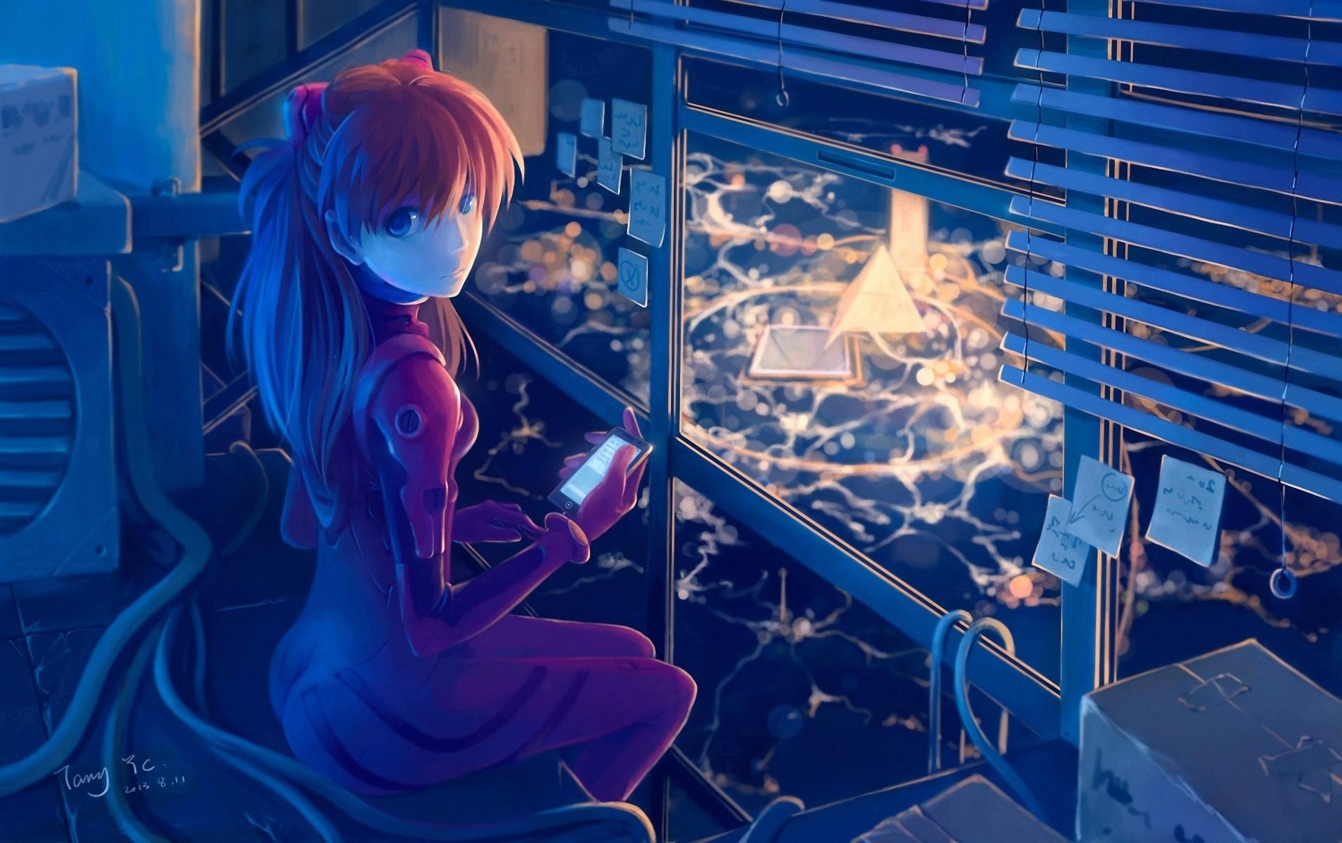 Anime 1920x1206 drawing Asuka Langley Soryu Neon Genesis Evangelion anime tyc001x