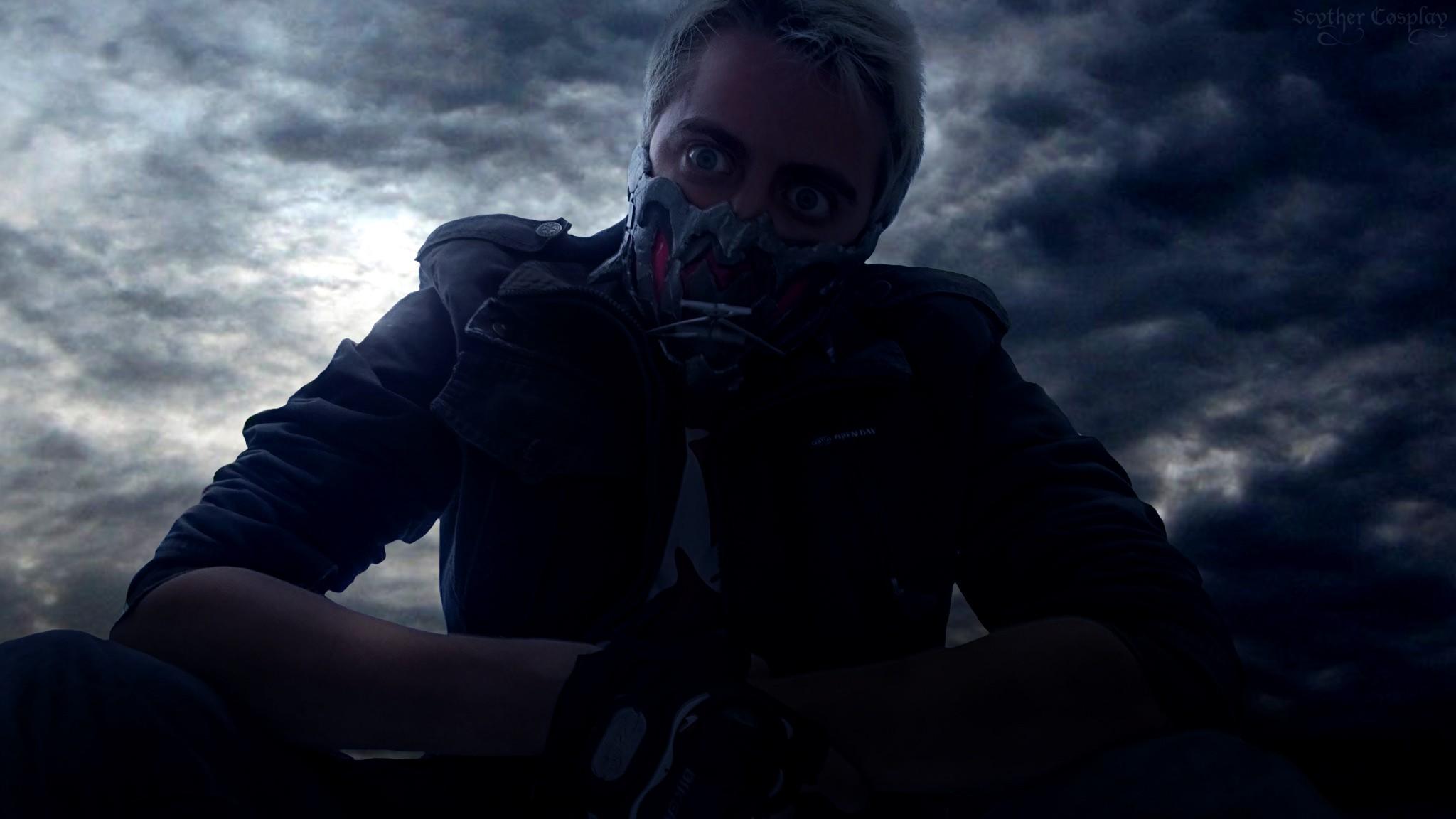 General 2048x1152 apocalyptic mask backlighting photo manipulation