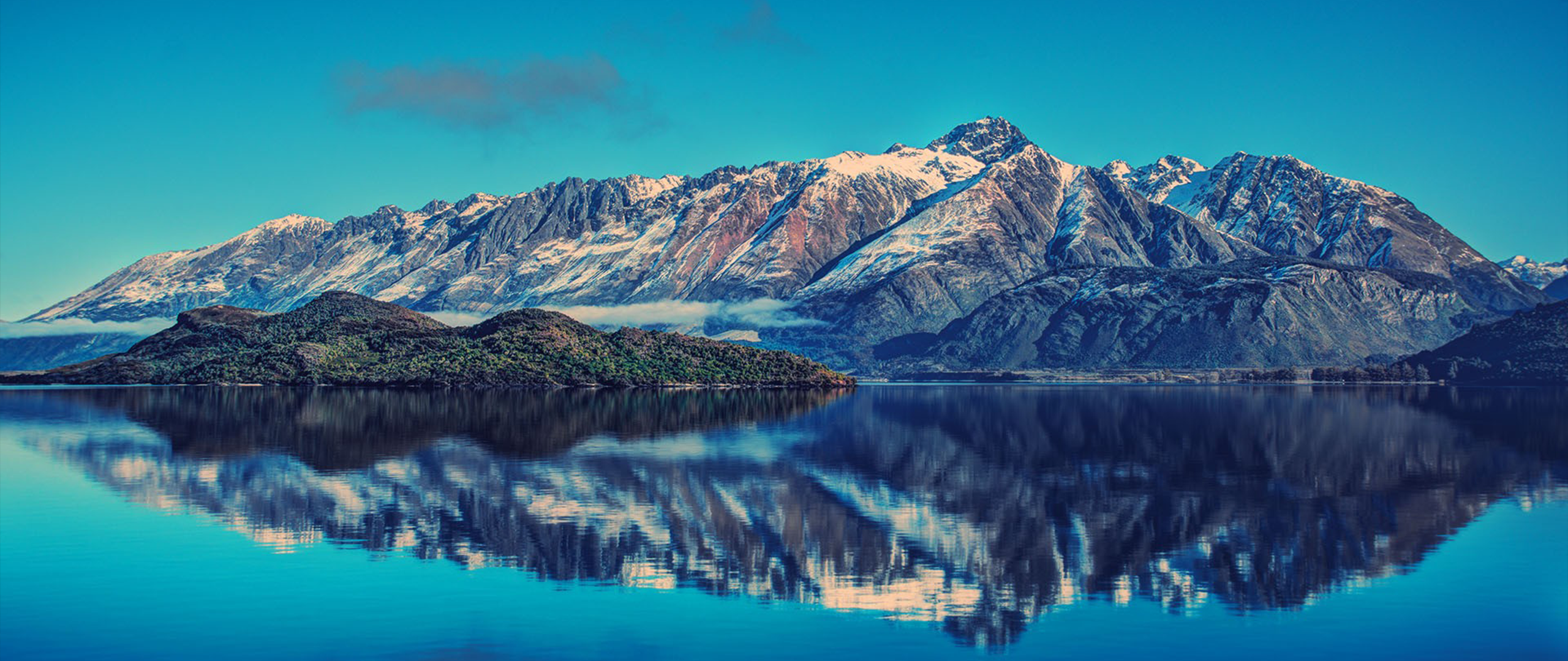 General 2560x1080 ultra-wide photography nature landscape mountains Lake Pukaki New Zealand