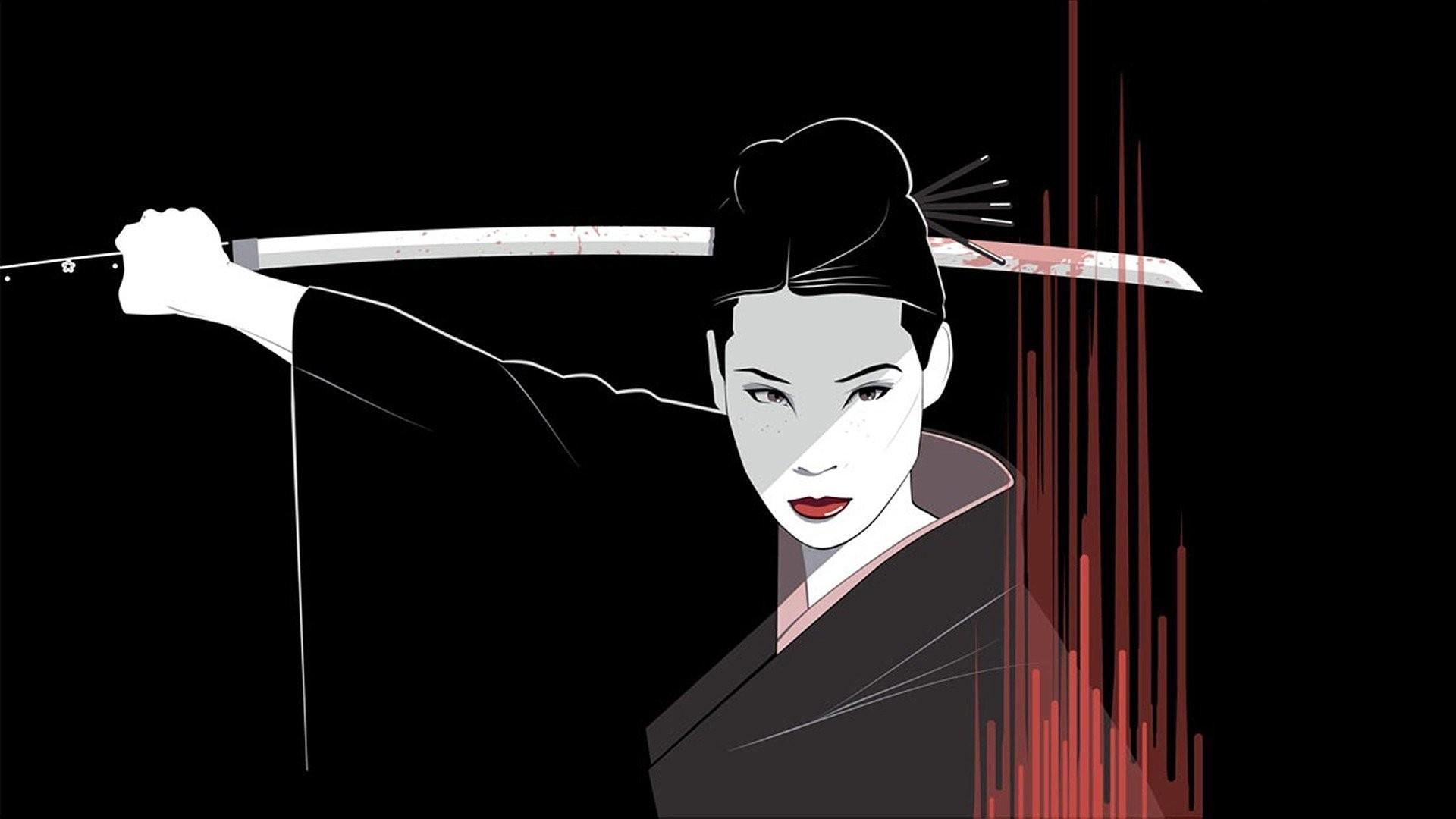 General 1920x1080 Kill Bill Lucy Liu Craig Drake fan art drawing movies anime