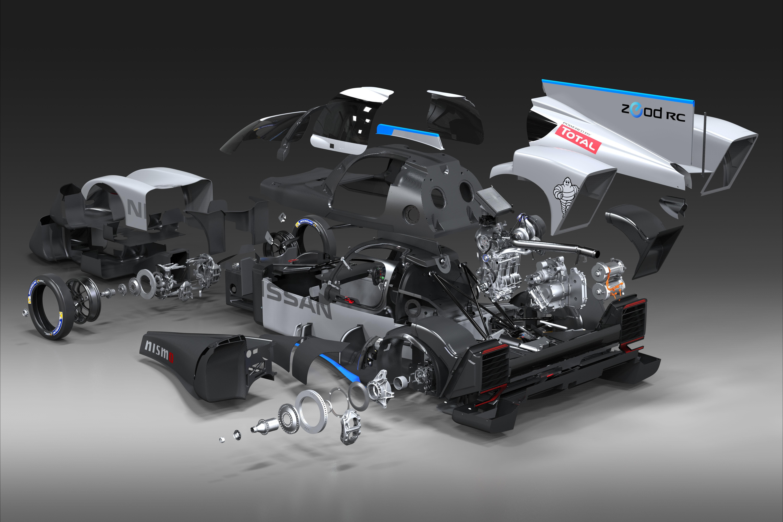 General 6000x4000 car digital art CGI Nissan sports car engines wheels carbon fiber  Michelin gears