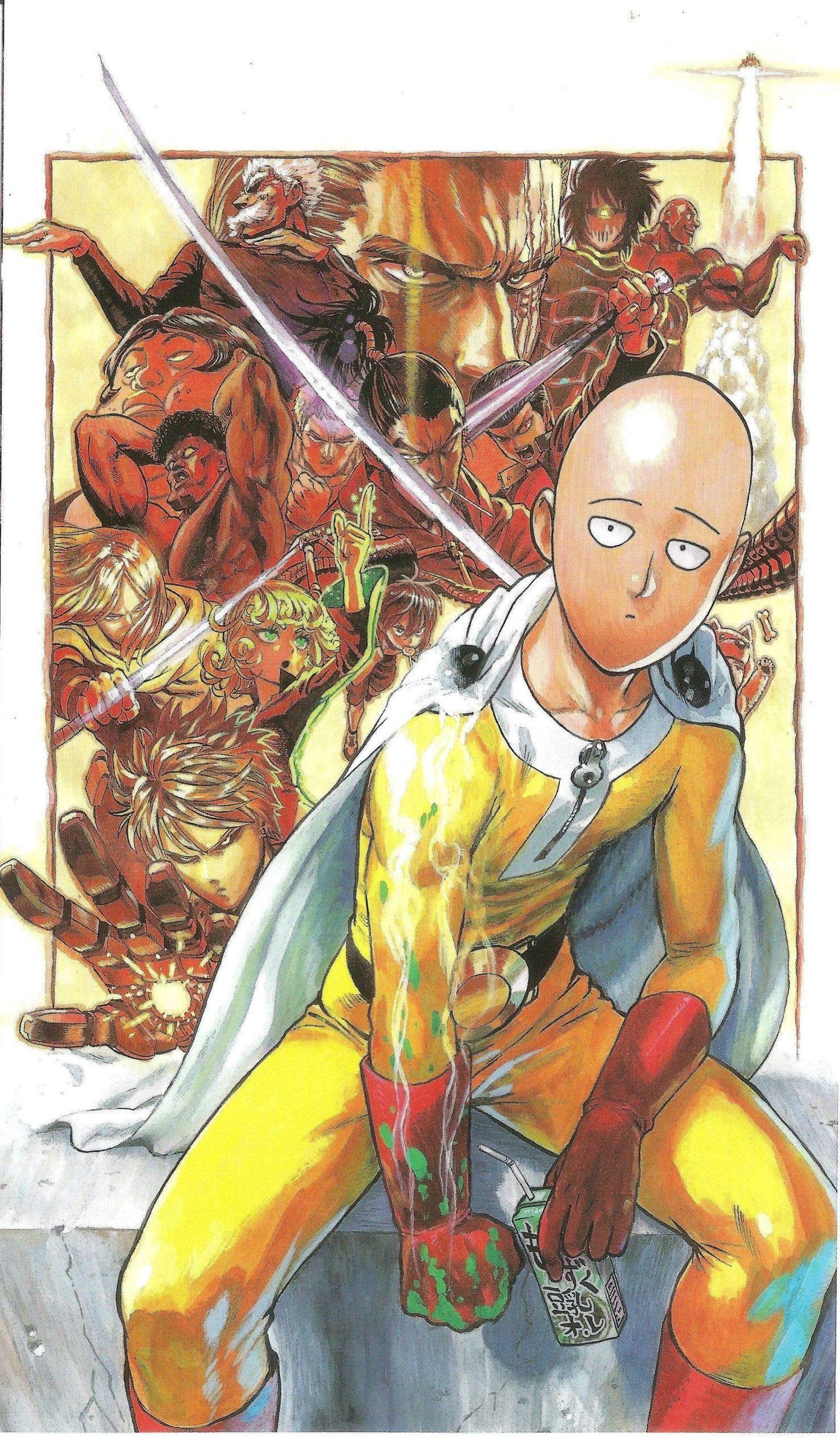 Anime 1478x2540 manga Saitama One-Punch Man