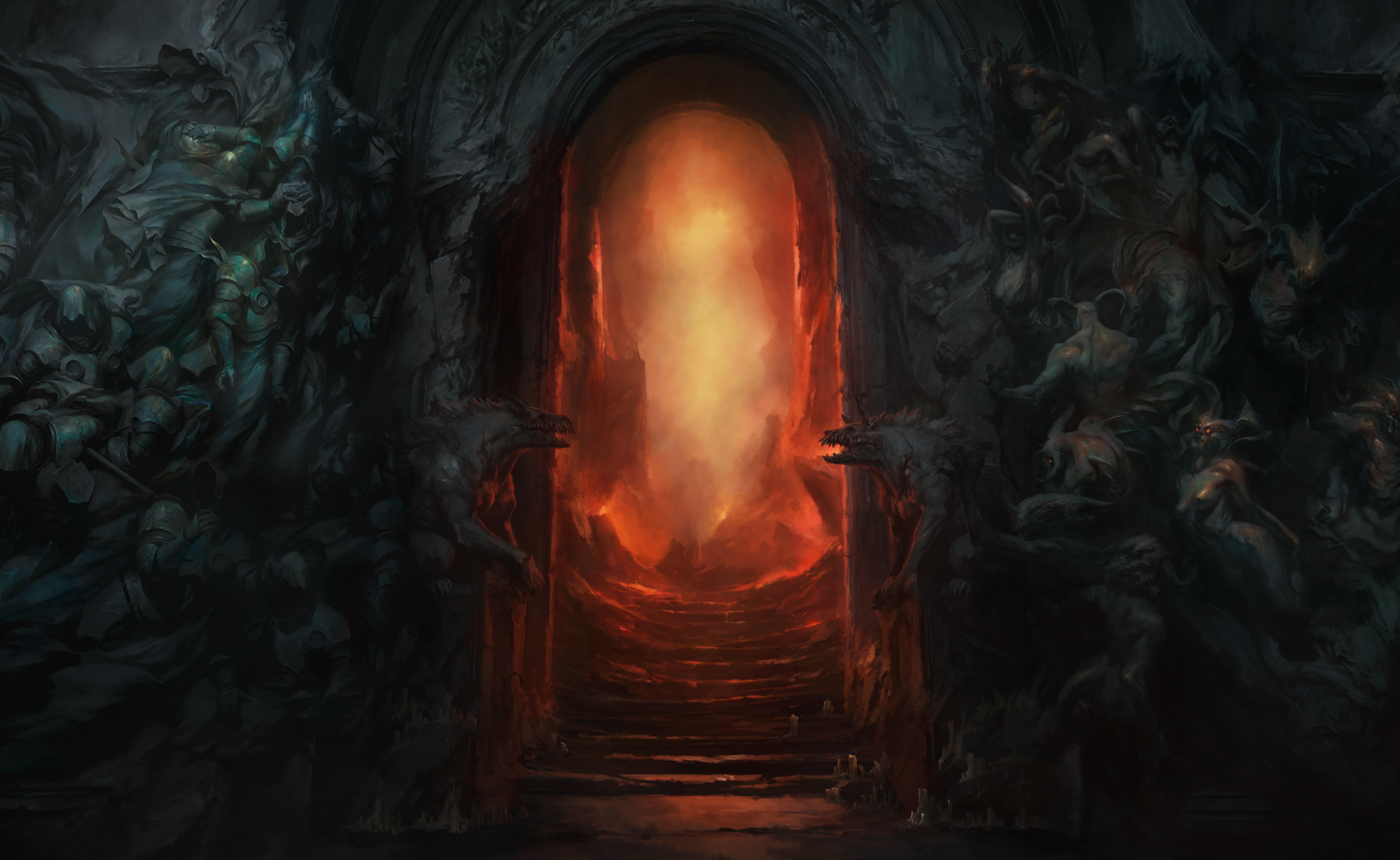 General 8949x5496 digital art artwork video games video game art diablo iv Diablo Blizzard Entertainment gates Hellgate diablo 4