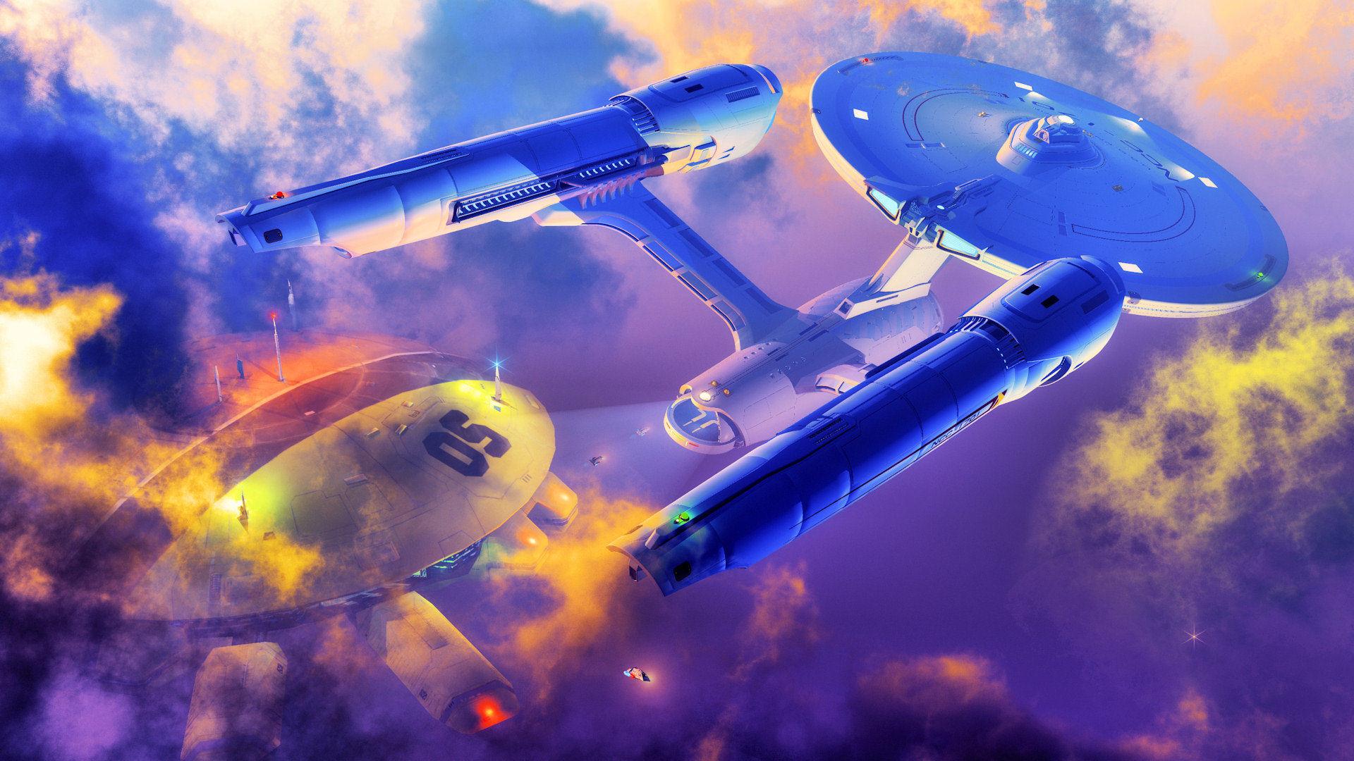General 1920x1080 Star Trek USS Enterprise (spaceship) artwork science fiction