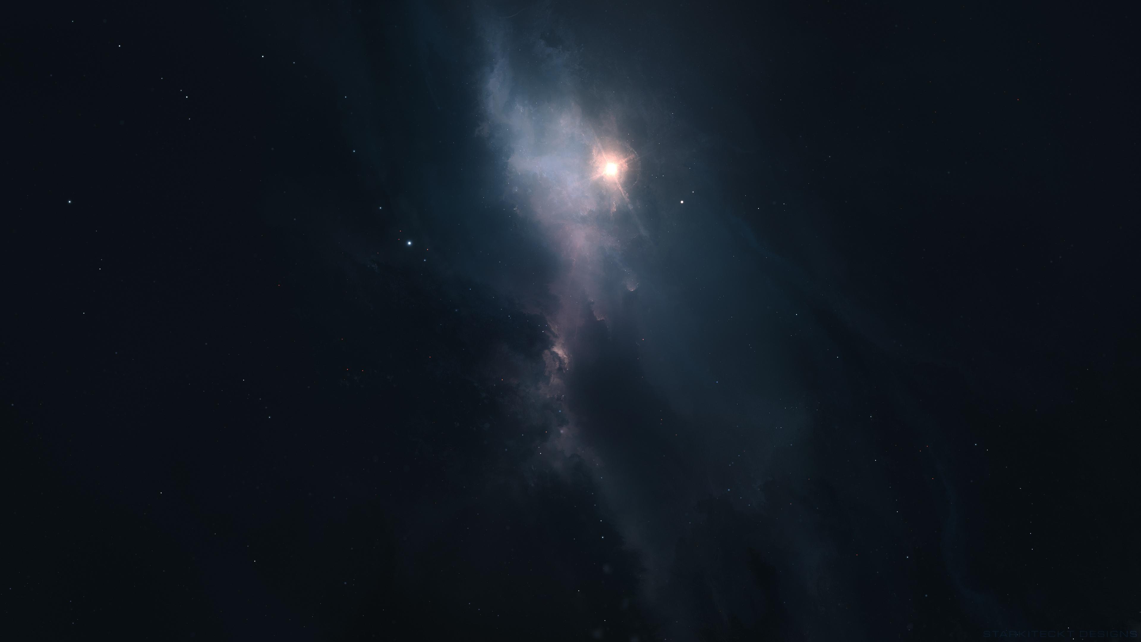 General 3840x2160 nebula stars galaxy universe space space art digital art Starkiteckt
