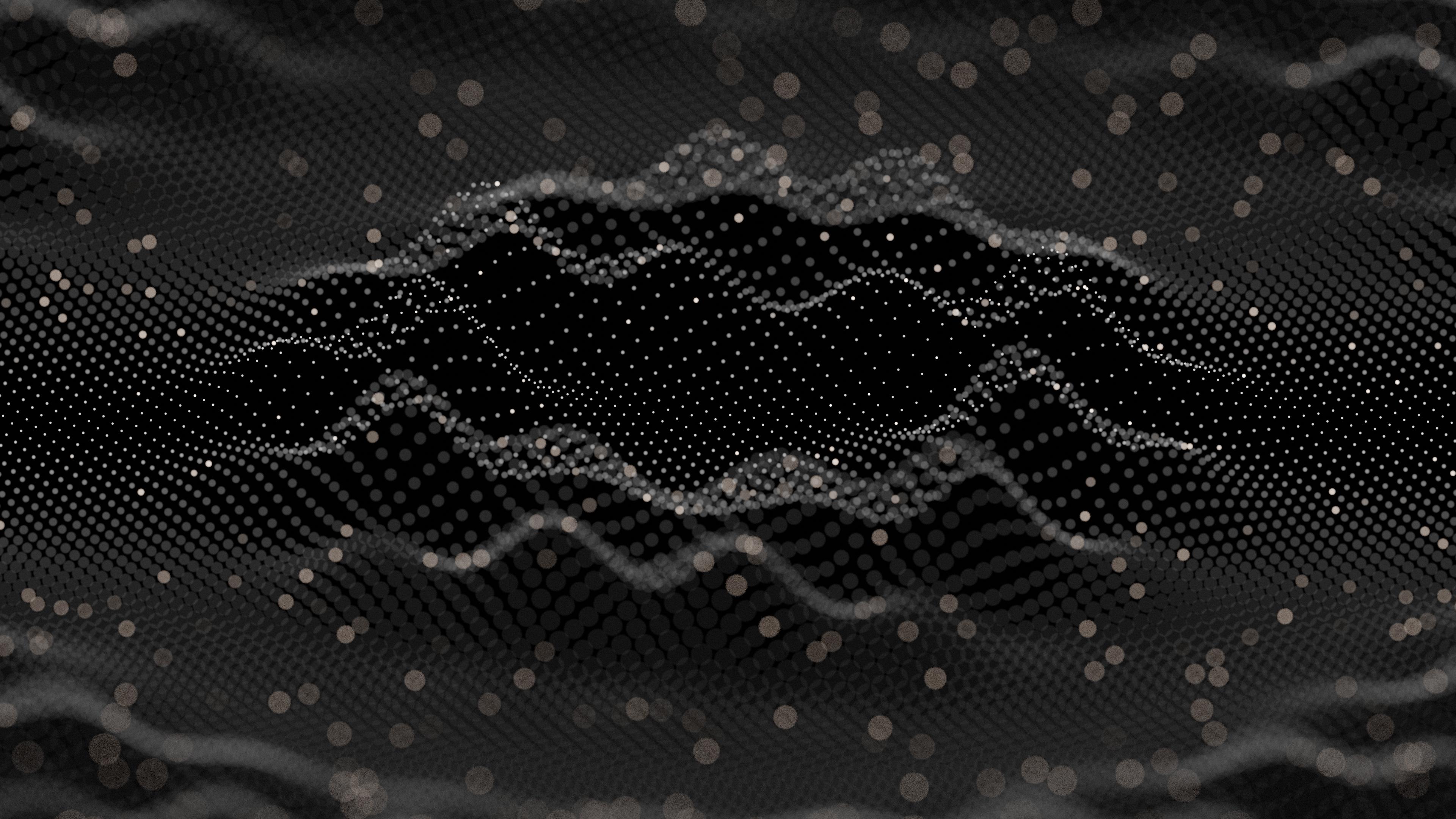 General 3840x2160 dark abstract grid tech