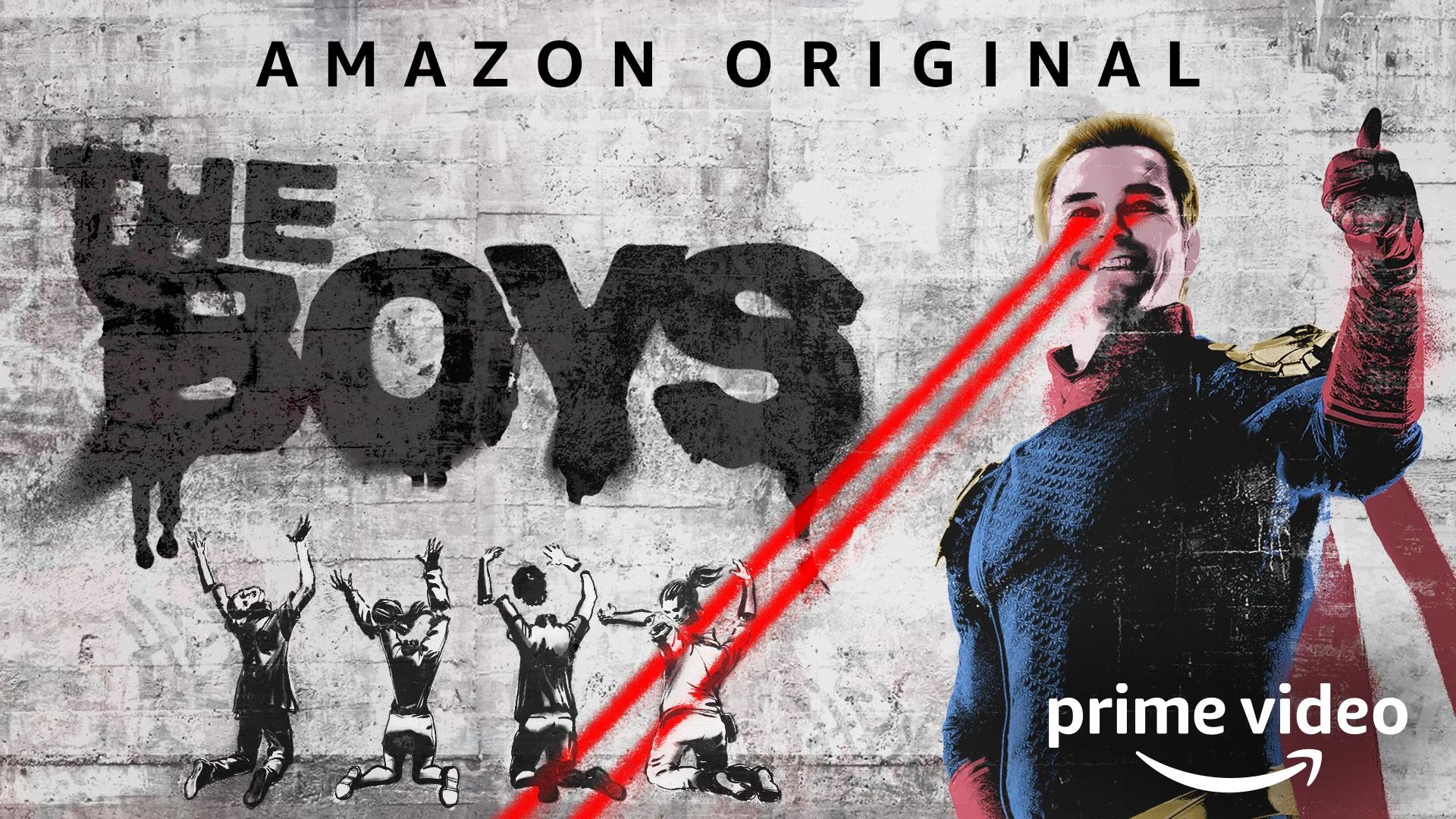 People 1920x1080 The Boys(series) homelander Antony Starr TV Series Amazon prime video poster graffiti