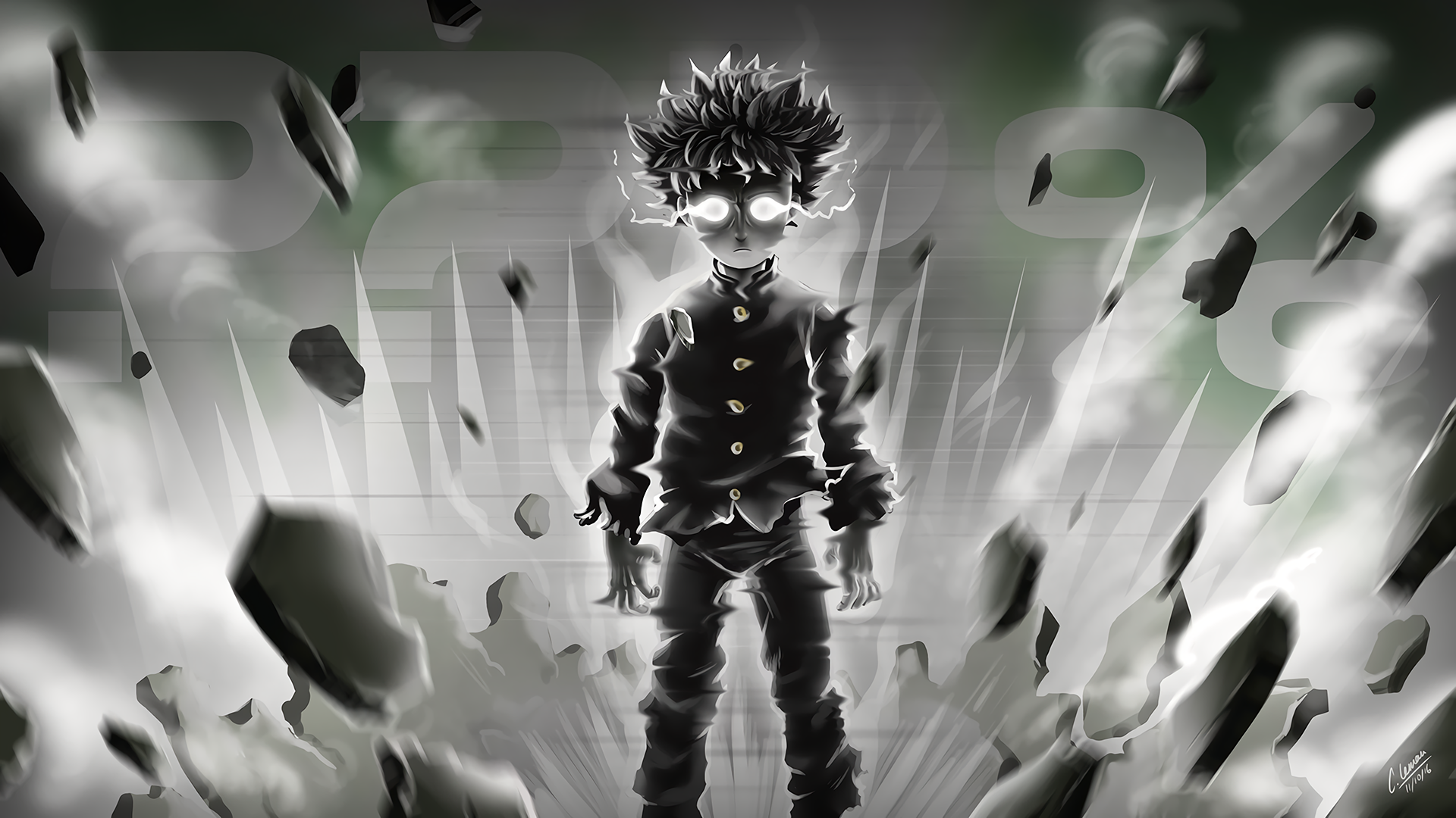 General 1920x1080 Mob Psycho 100 debris Shigeo Kageyama Self awareness anime