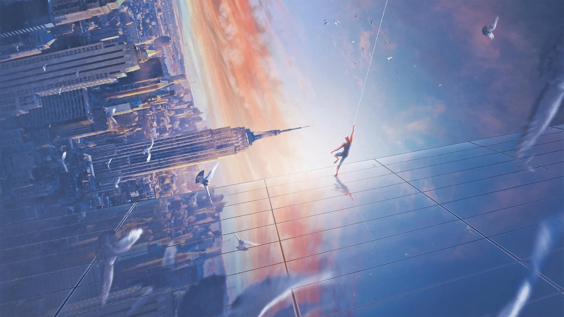 General 1920x1080 Marvel Super Heroes artwork city cityscape Spider-Man