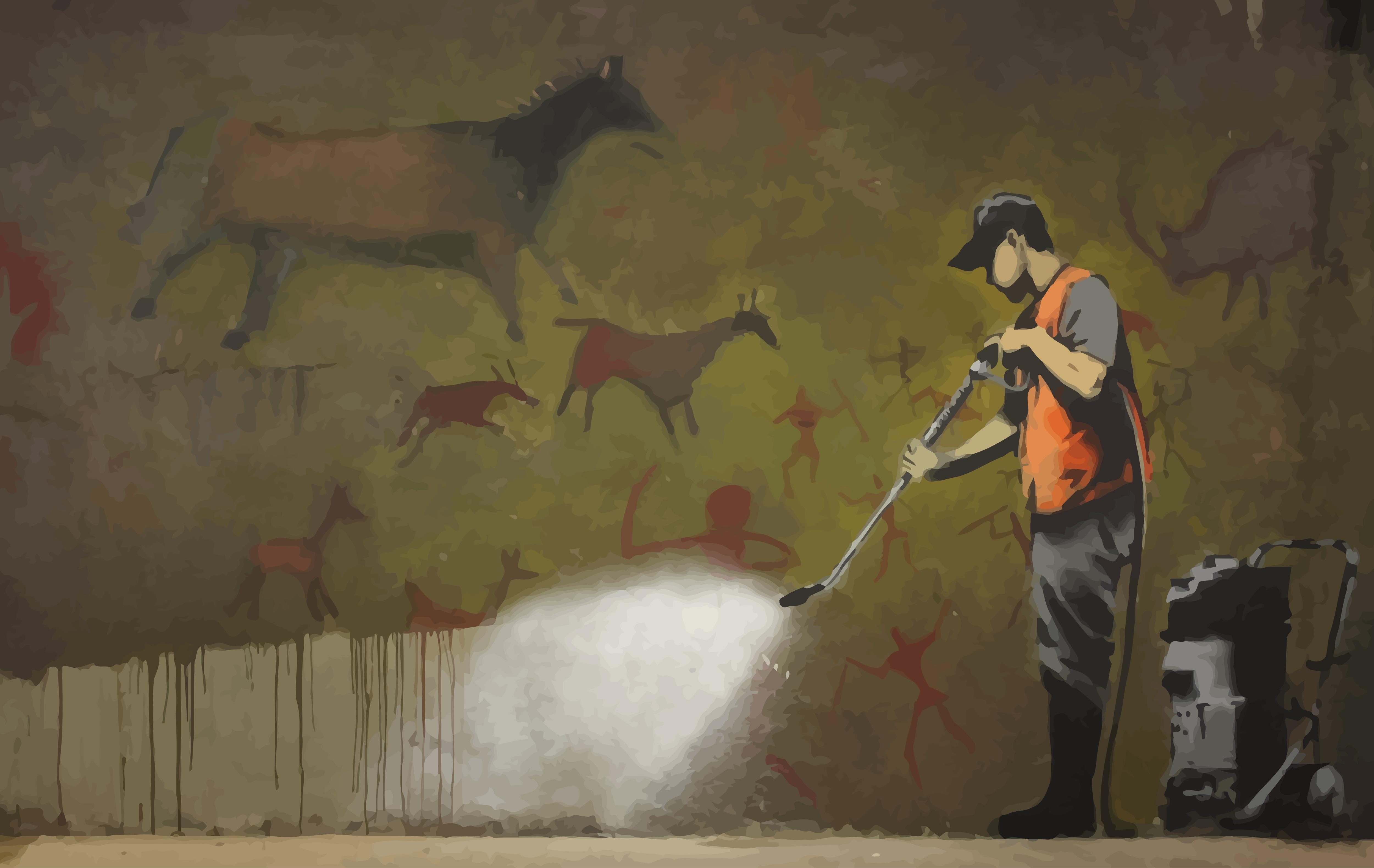 General 5000x3158 street art Banksy graffiti men