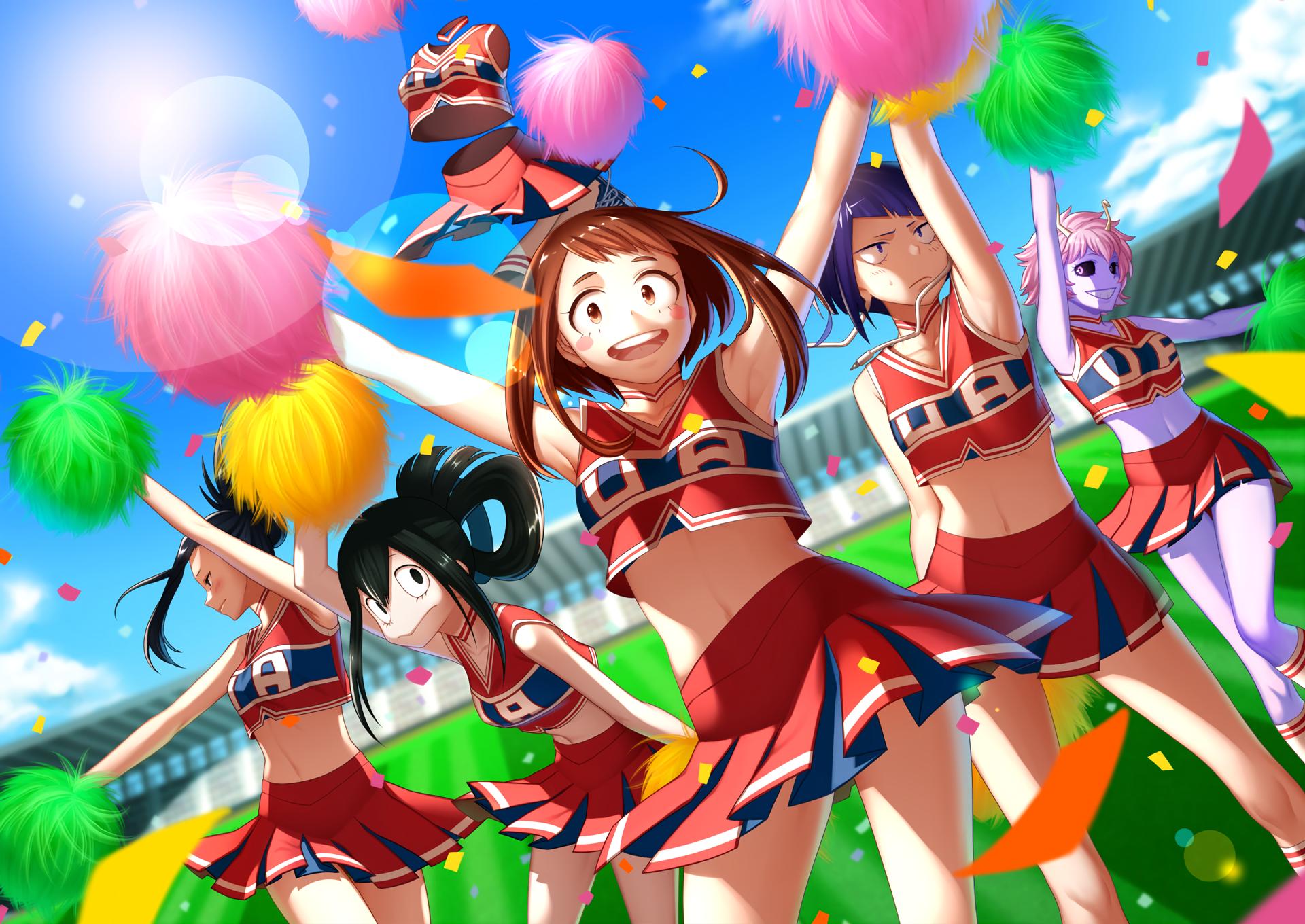 Anime 1920x1360 Boku no Hero Academia colorful anime anime girls cheerleaders