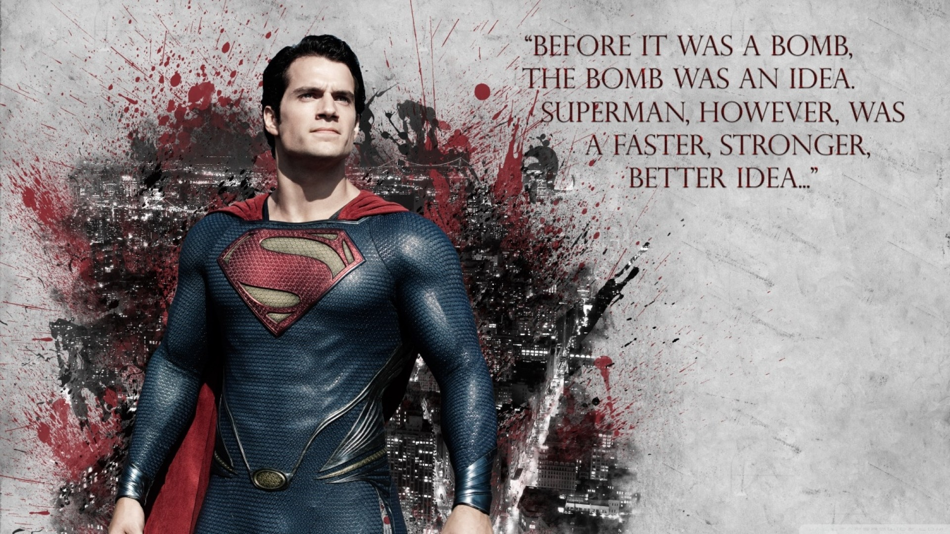 General 1920x1080 quote Superman Man of Steel Henry Cavill movies