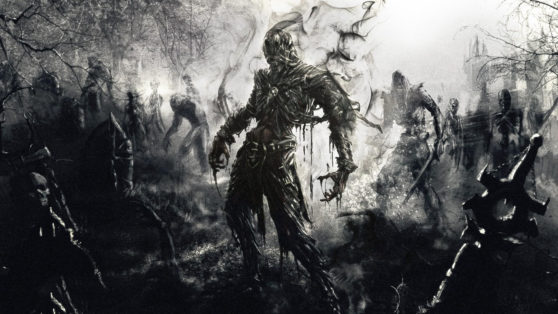 General 1920x1080 fantasy art dark fantasy undead artwork