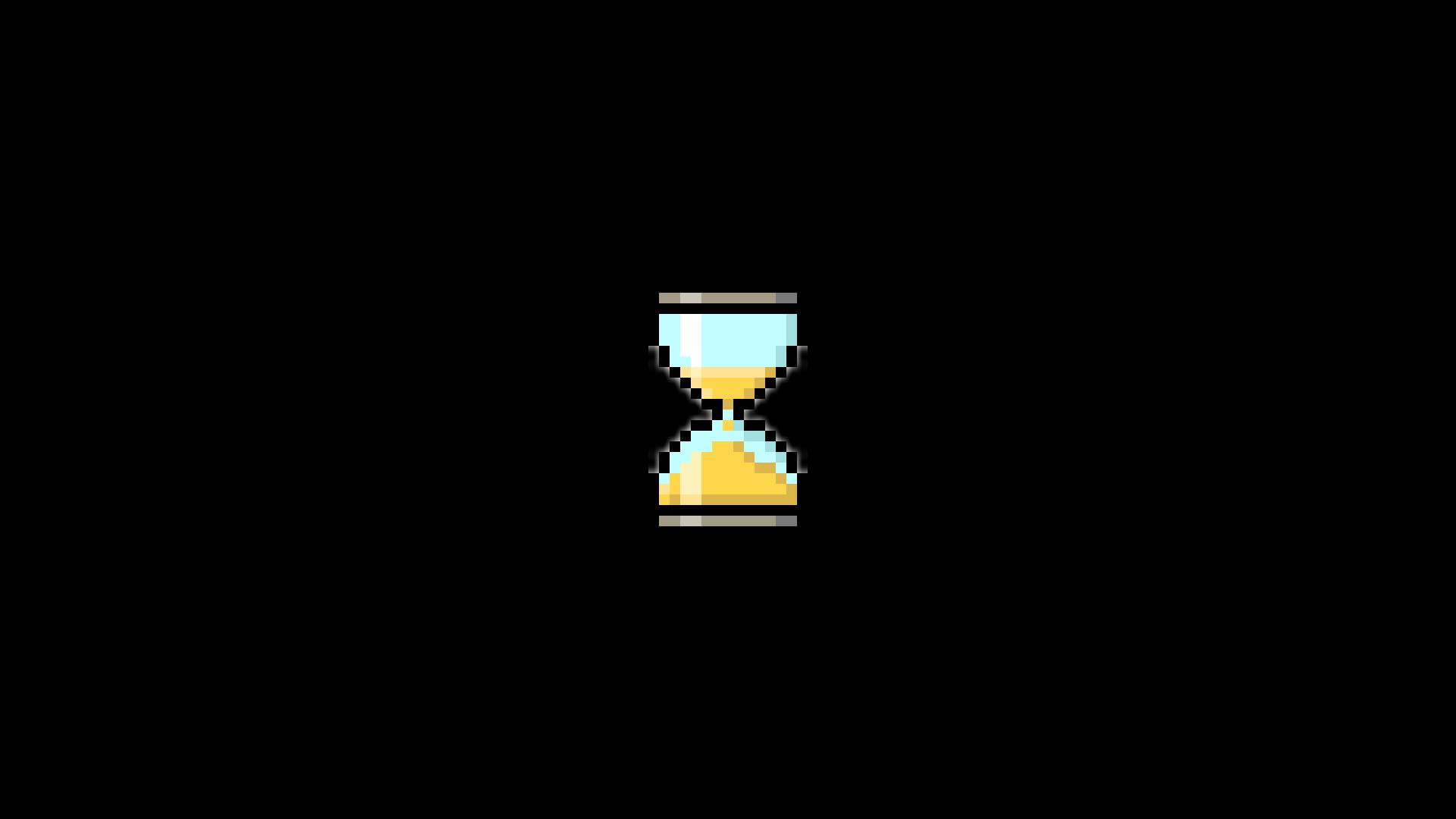 General 1920x1080 pixel art pixels time hourglasses minimalism