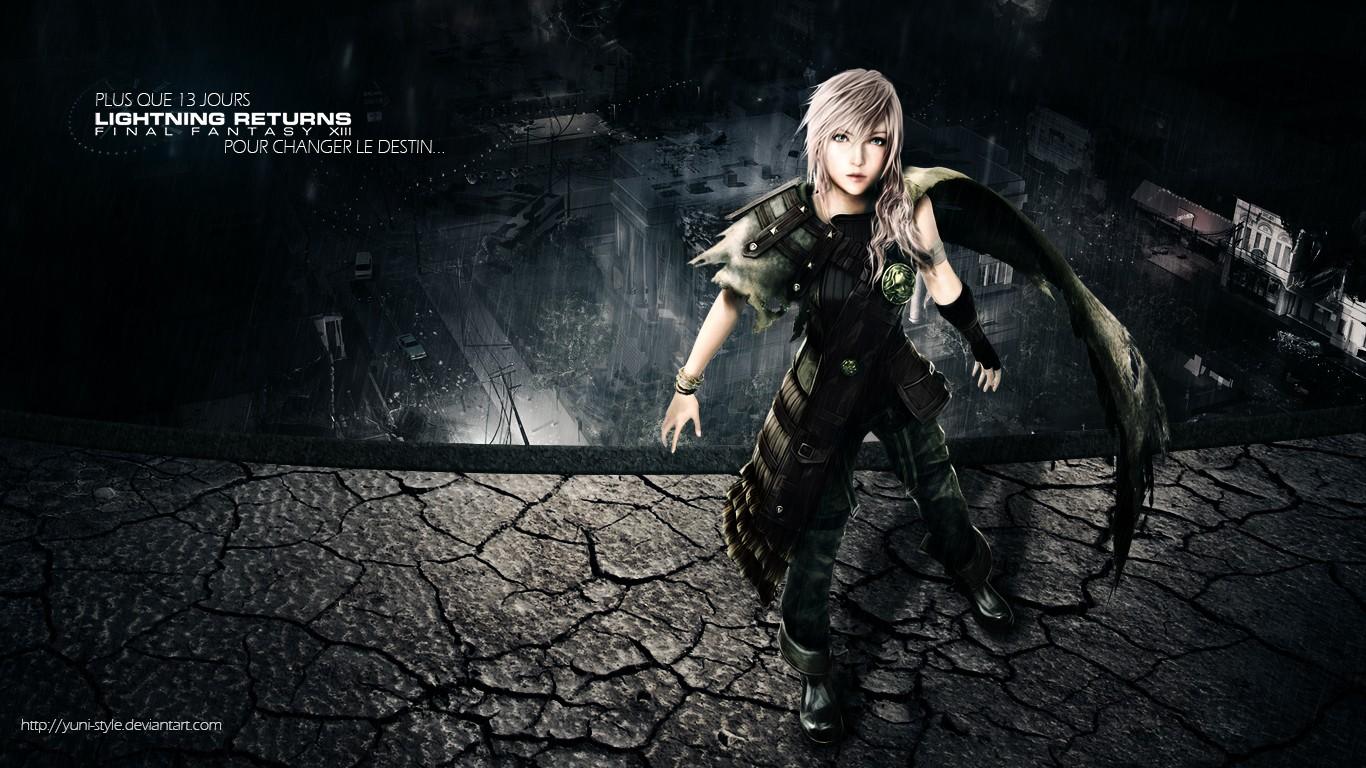 Anime 1366x768 Claire Farron Lightning XIII lightning Final Fantasy Final Fantasy XIII