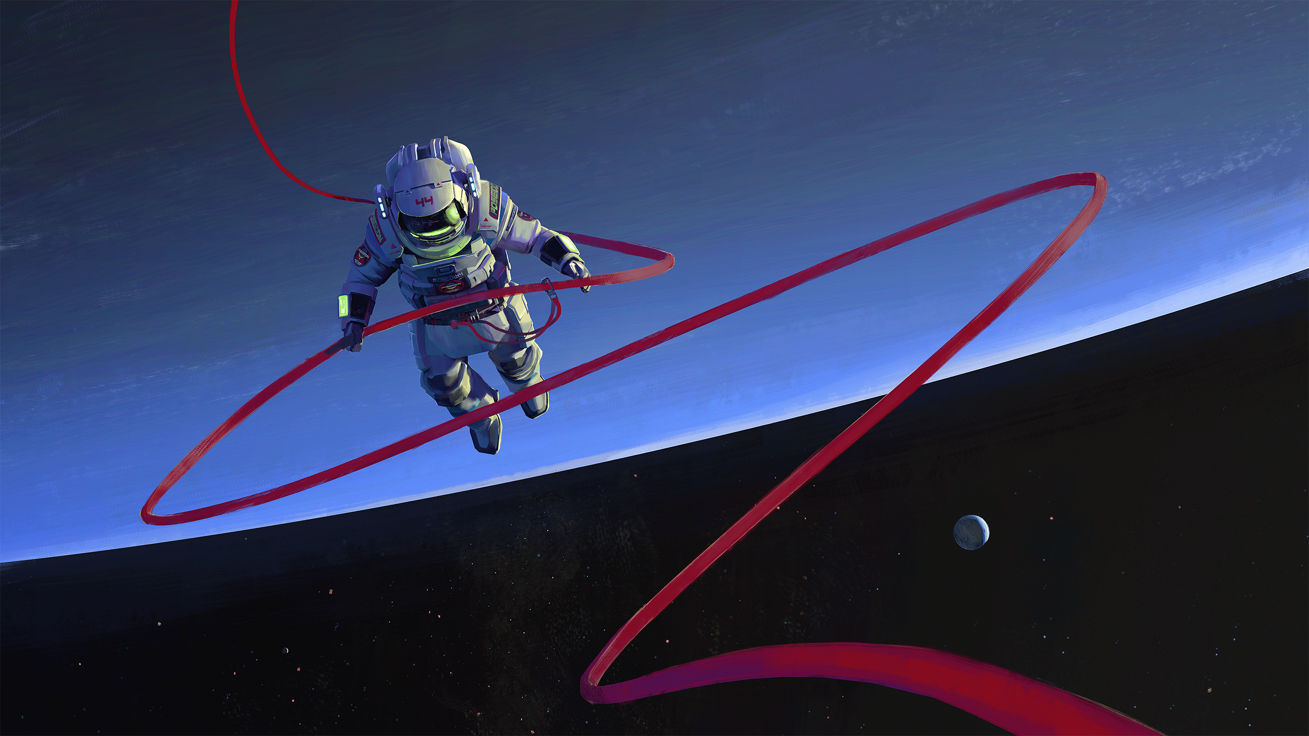 General 2560x1440 artwork digital art science fiction space spaceship astronaut
