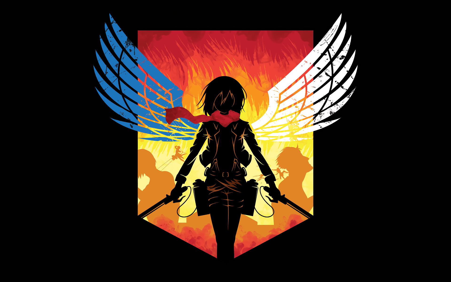 Anime 1920x1200 Shingeki no Kyojin Mikasa Ackerman logo Scout Regiment