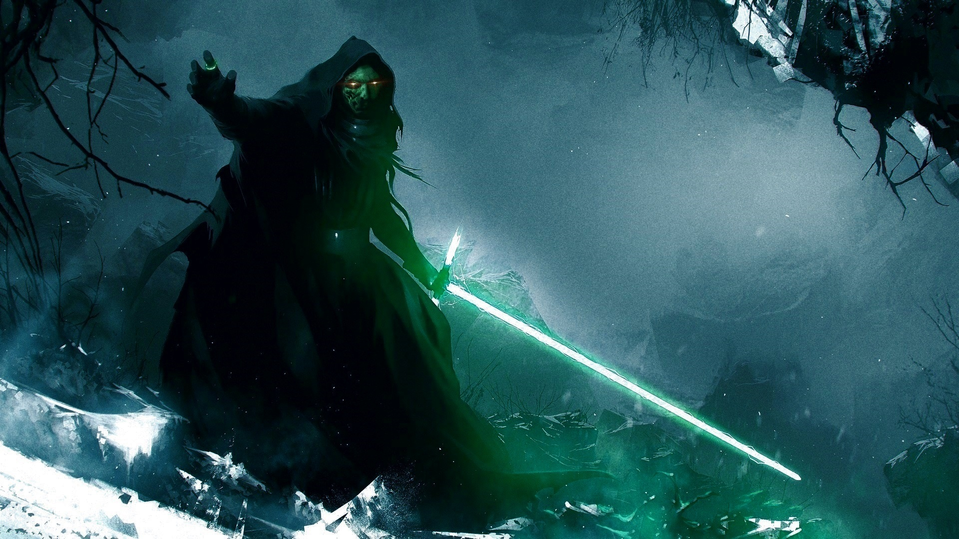 General 1920x1080 Star Wars Talion Nazgûl video games lightsaber corruption digital art artwork fantasy art The Lord of the Rings crossover Middle-Earth: Shadow of War Middle Earth Shadow of War