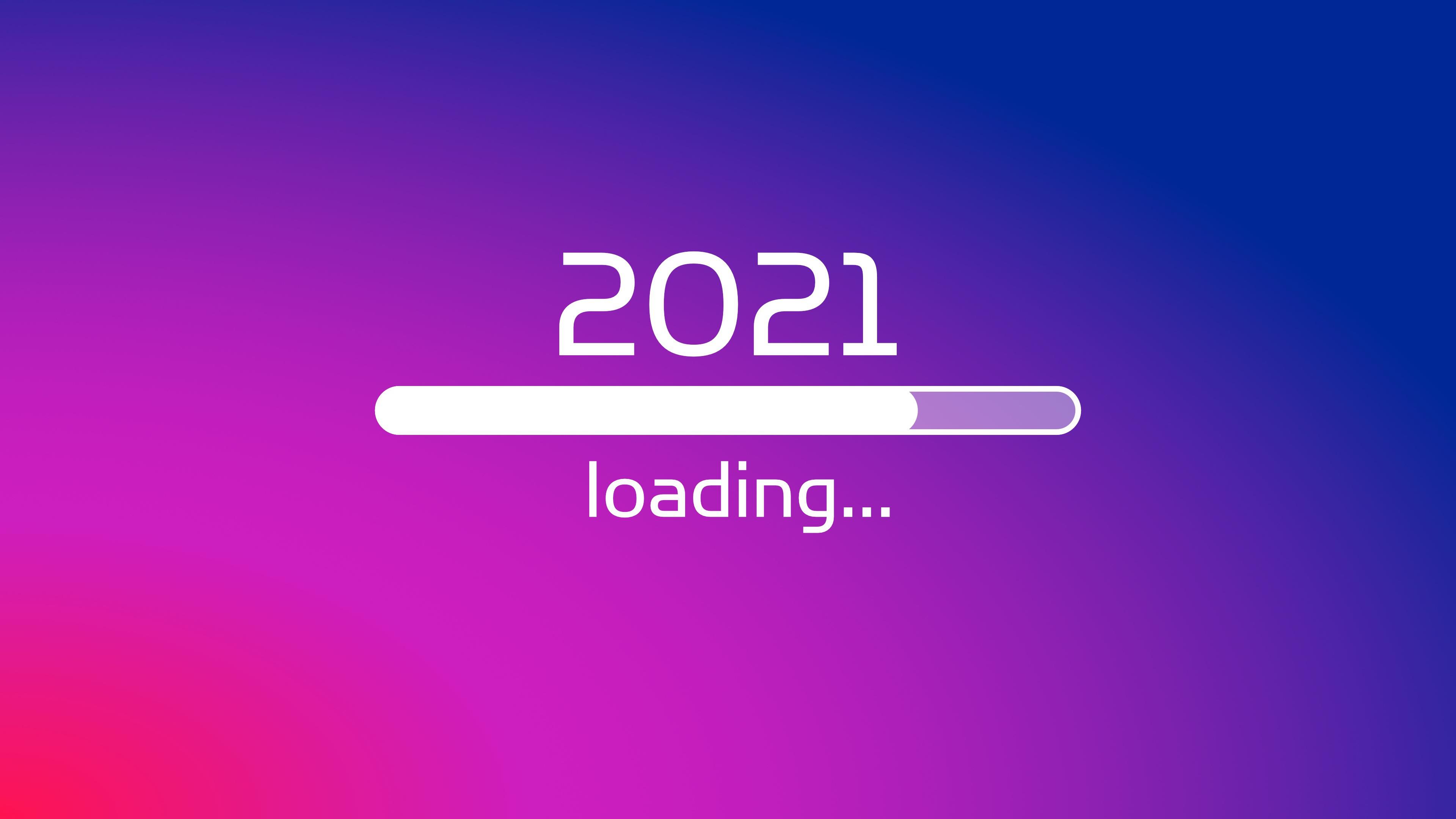 General 3840x2160 New Year 4K simple background minimalism loading gradient 2021 (Year) digital art