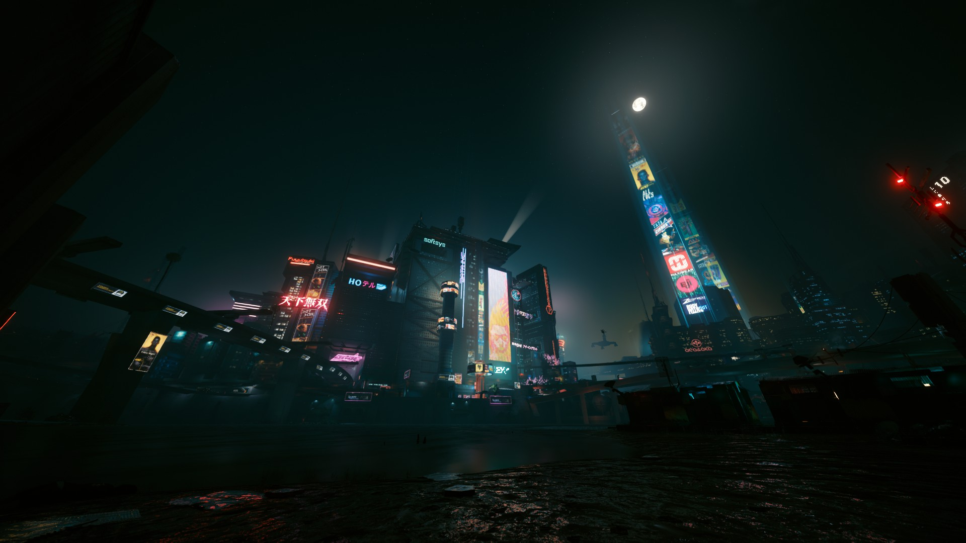 General 1920x1080 Cyberpunk 2077 night video games screen shot cyberpunk city