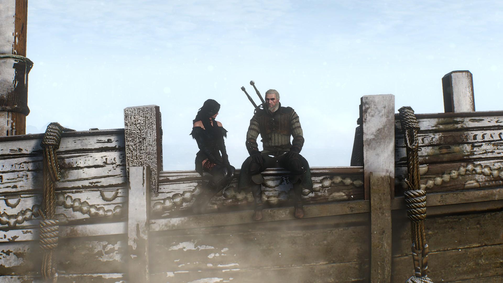 General 1920x1080 The Witcher 3: Wild Hunt Yennefer of Vengerberg Geralt of Rivia The Witcher Yennefer screen shot Skellige