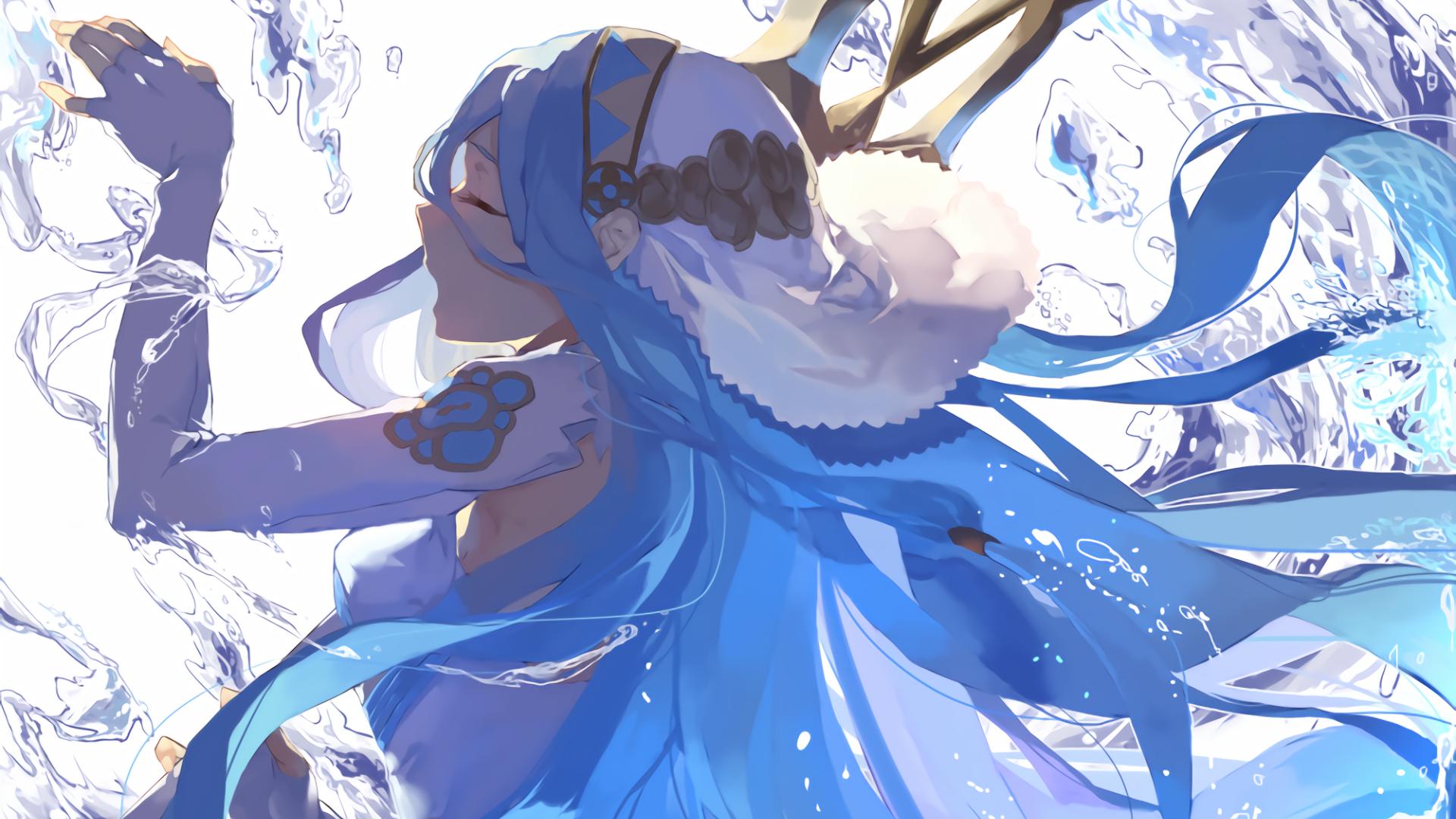 Anime 1920x1080 Fire Emblem anime girls anime blue hair Azura (Fire Emblem)