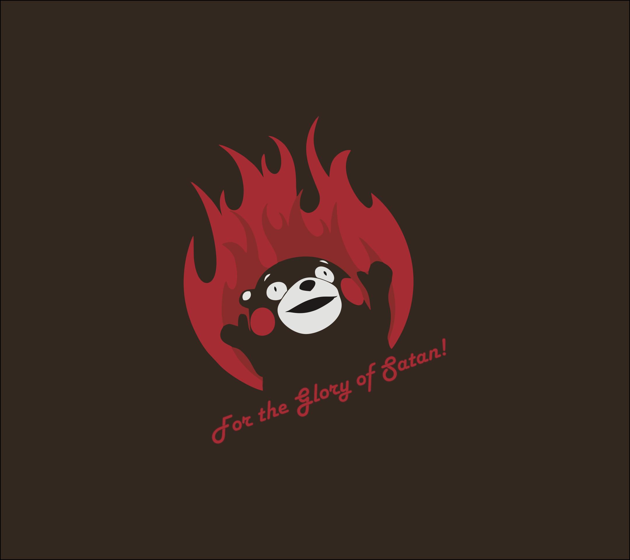 General 2160x1920 phone smartphone kumamon fire Satan