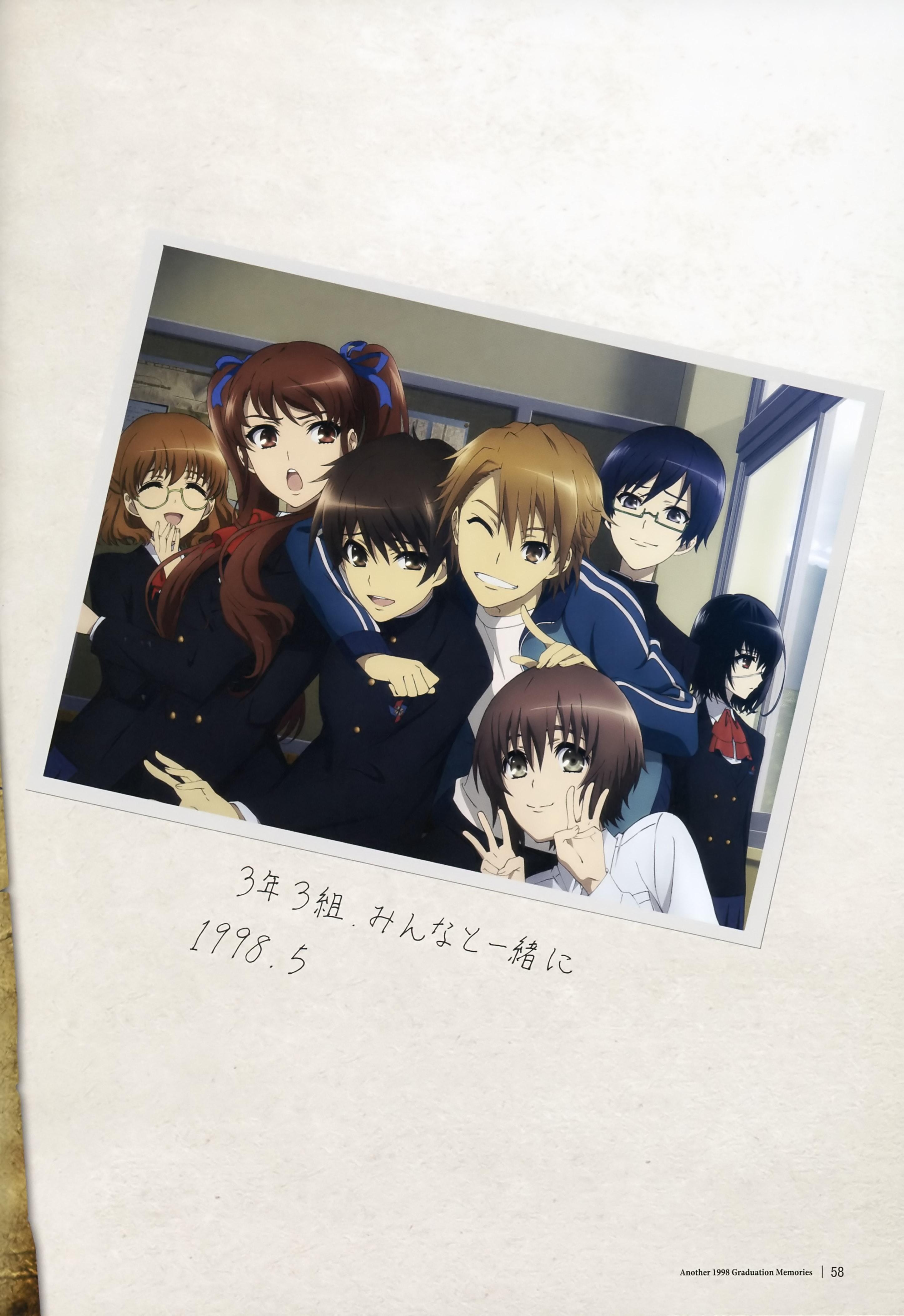 Anime 2895x4214 Another Misaki Mei Akazawa Izumi Sakakibara Kouichi