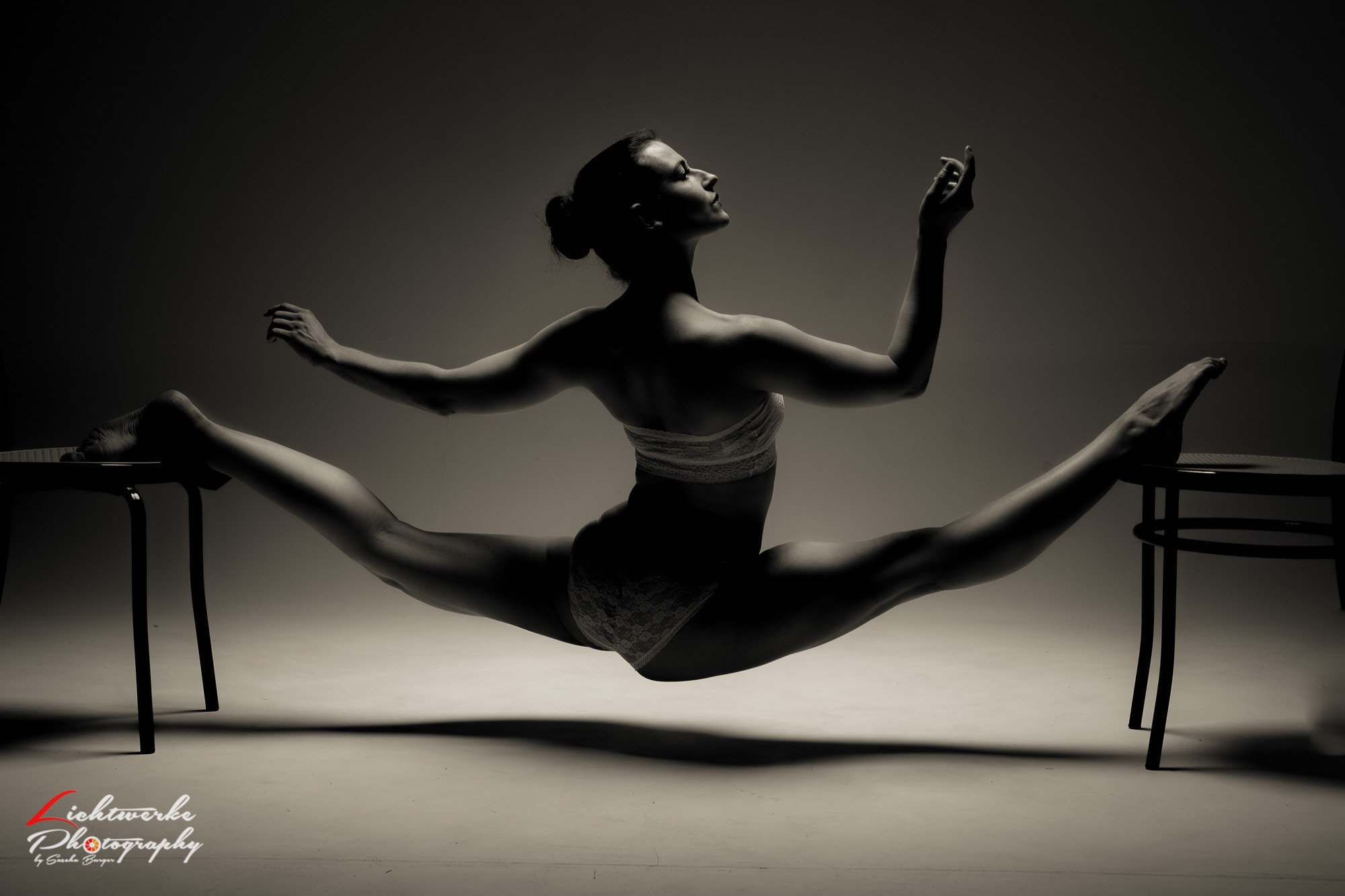 People 2000x1333 spread legs women flexible legs women indoors sepia barefoot pointed toes stools contortionists splits