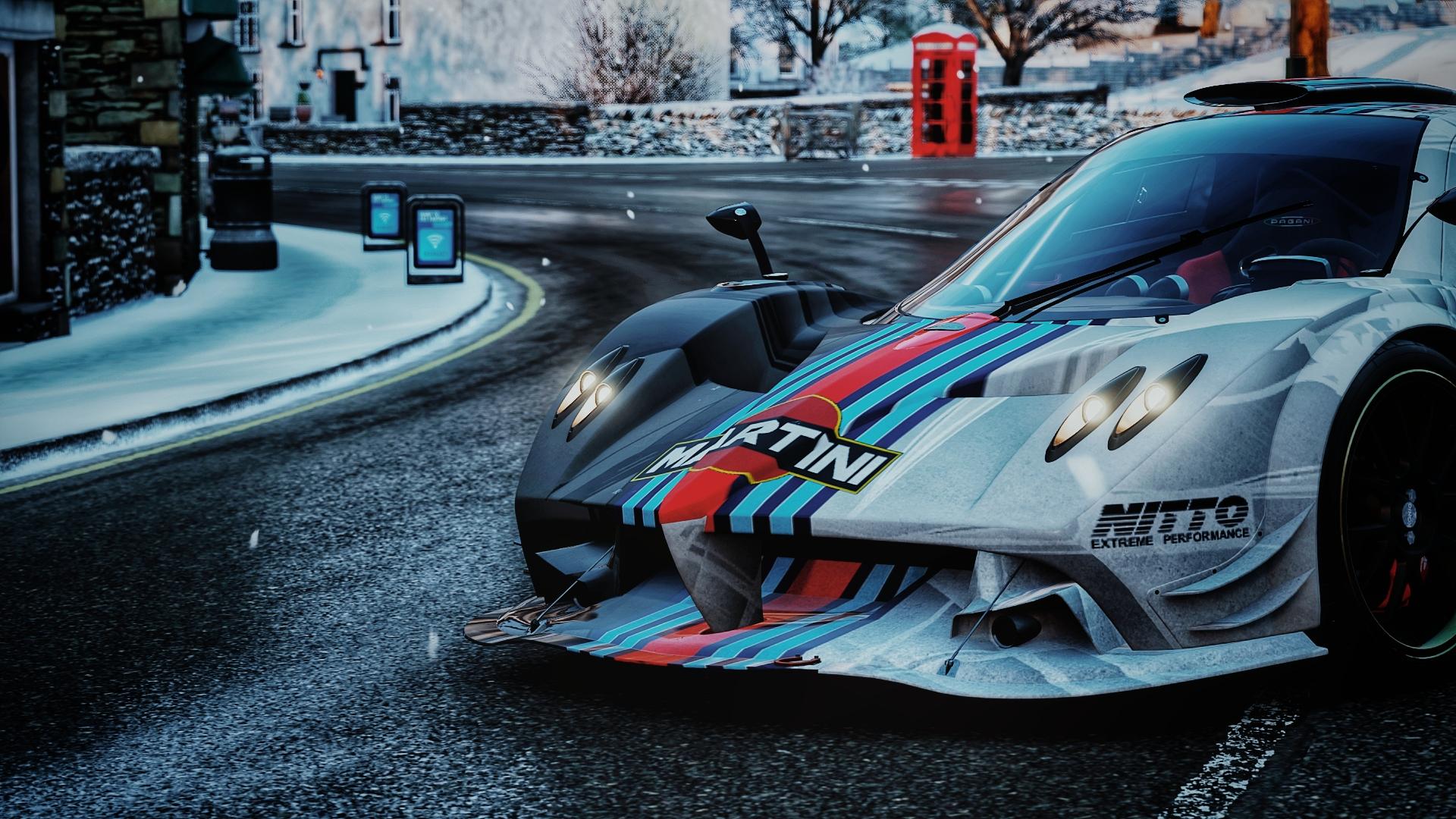 General 1920x1080 Pagani Pagani Zonda R Forza Horizon 4 car video games Martini Martini Racing design